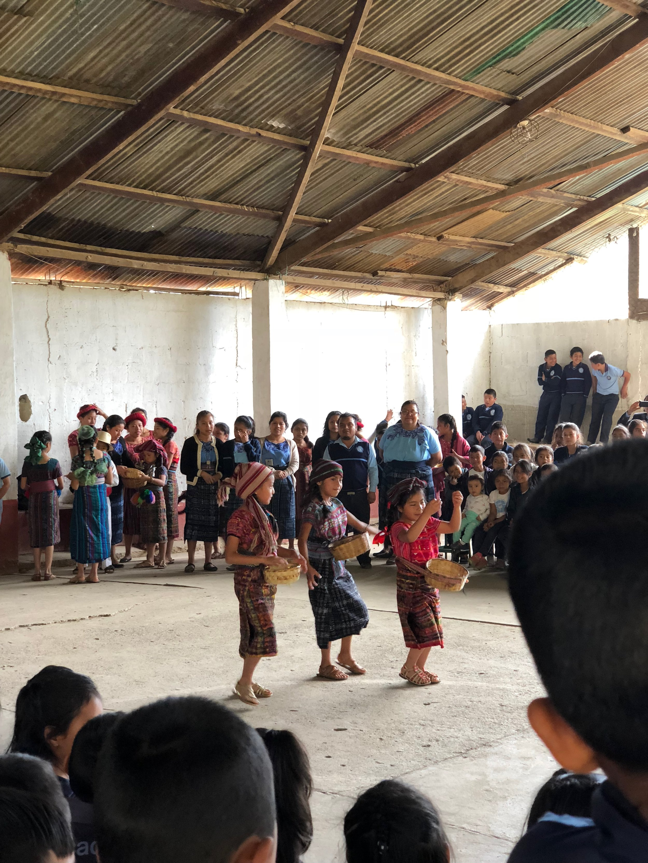 The first day we arrived in Cotzal we met the kids at the school. They welcomed us with sweet dance and presentation to show us how coffee is farmed. At the end they thanked us for coming by giving us all a bag of coffee to take home!