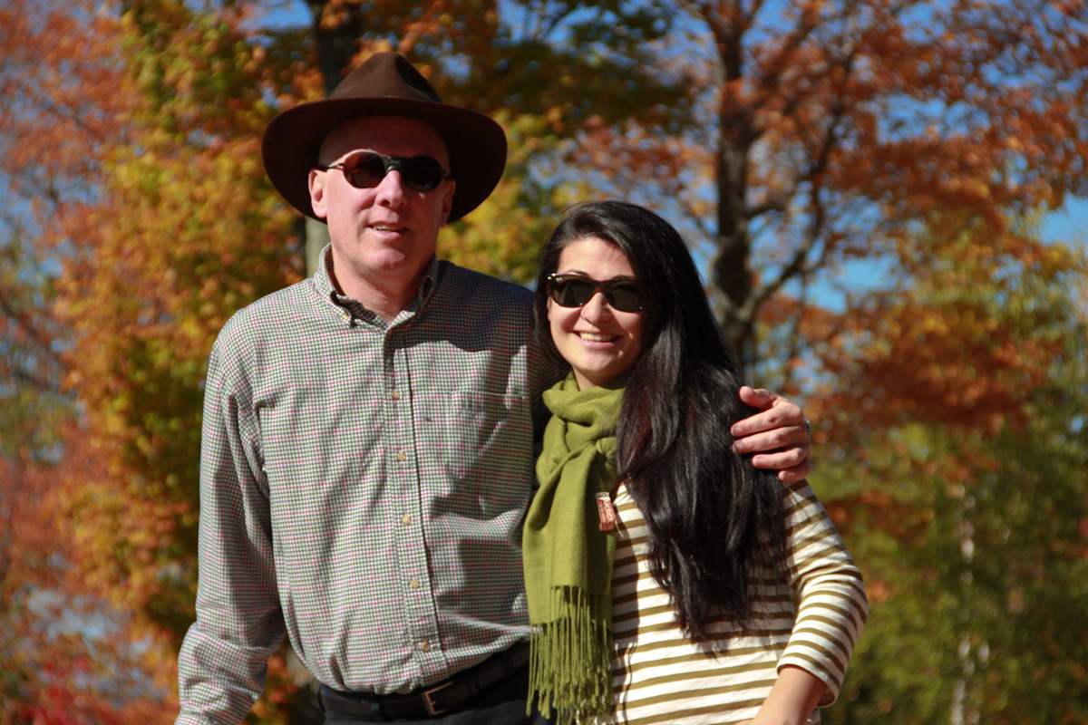 Steve & Lisa enjoying fall at home in Vermont