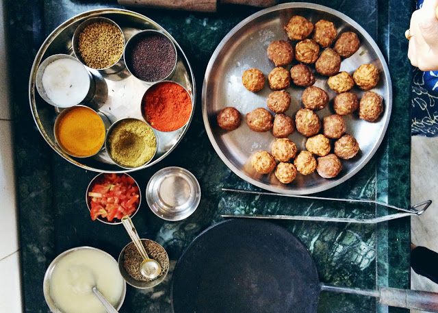 ohdeardrea india vegan cooking lesson spices and fritters.jpg