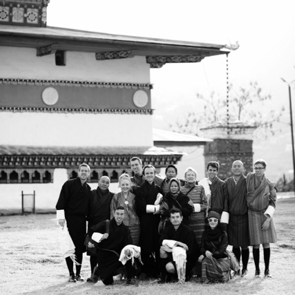 From Left to Right Back Row: Kyle, Tinzen, Kendra, Max, Gordie, Sonam, Tsering (in head scarf) Anne, Chandler, Tandin, Bryan Front Row: Steve, Thomas, Anastasi