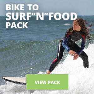 """Copy of Bike to Surf""""N""""Food Pack"""