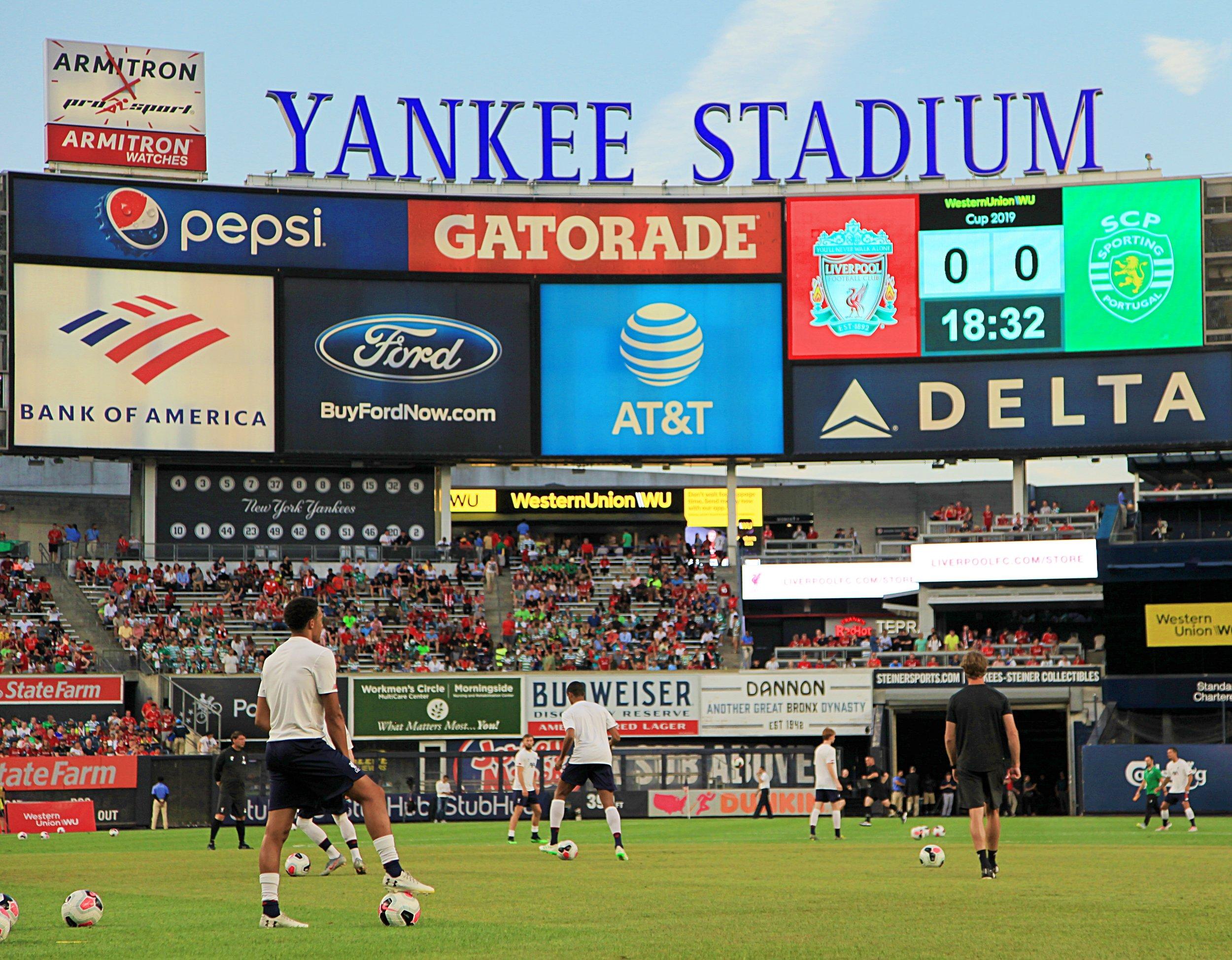 Yankee Stadium warm up.