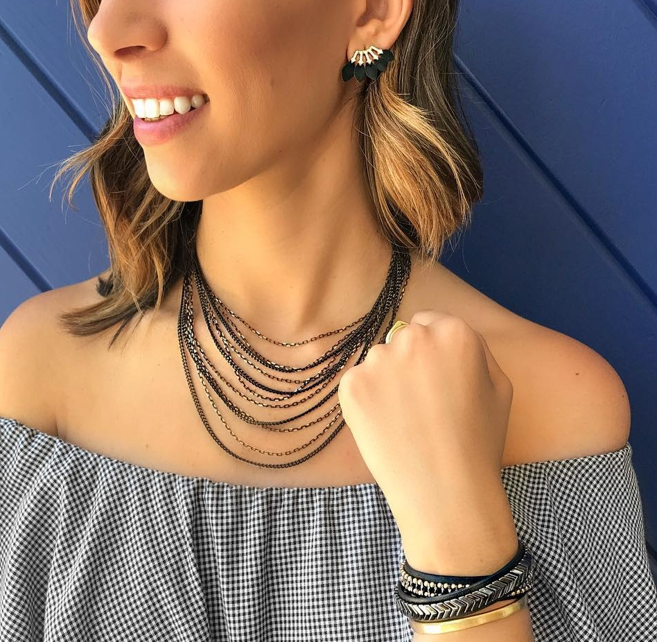 Tuesday - Statement studs add a subtle pop to any outfit, so try these feather studs in a basic black. They'll add a little edge to your look and pairs well with just about every accessory.