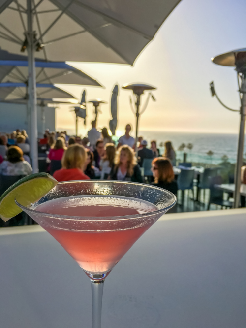 A Gin Cosmo on George's At The Cove Rooftop