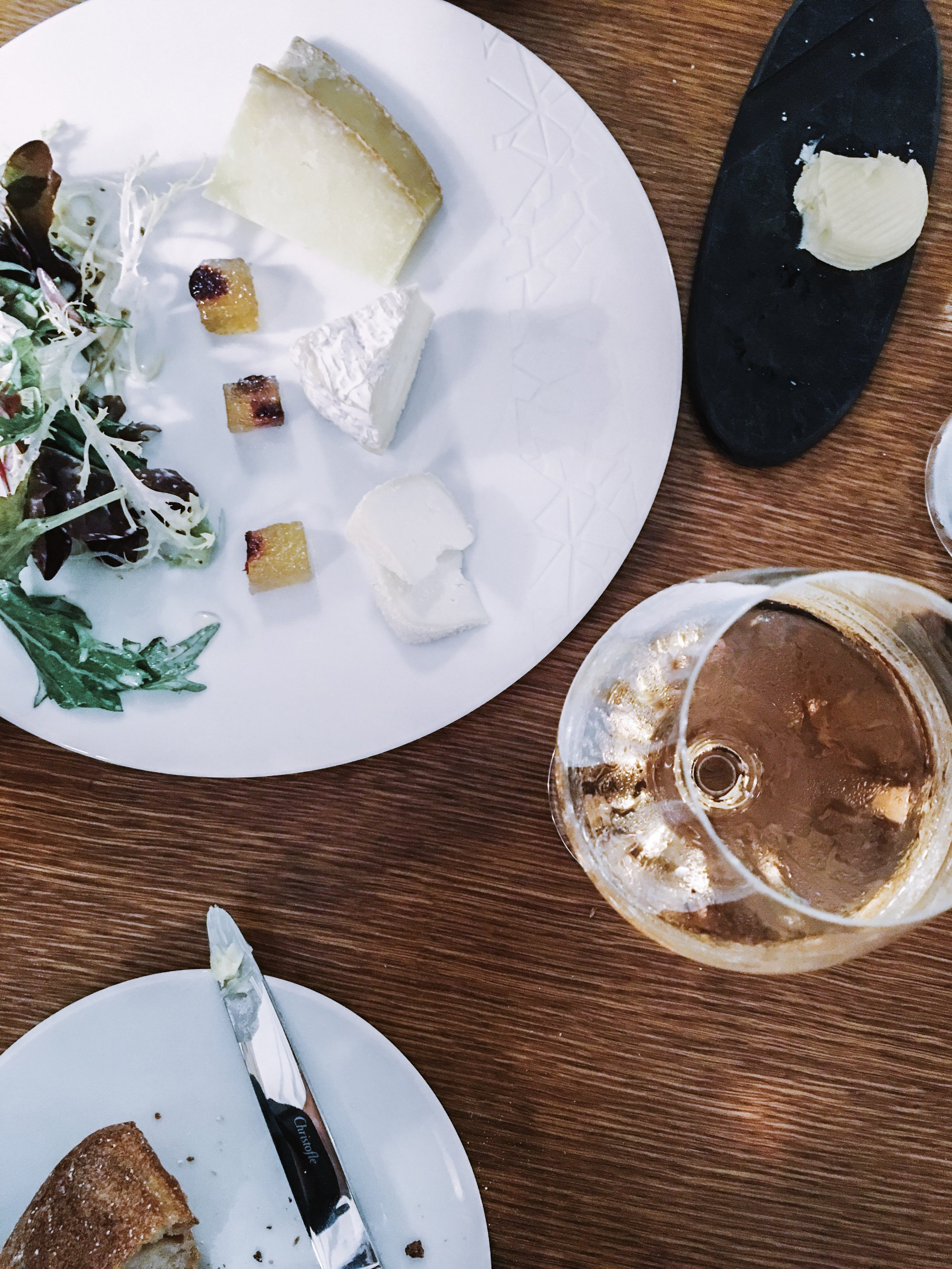 My favorite meal, cheese and wine.