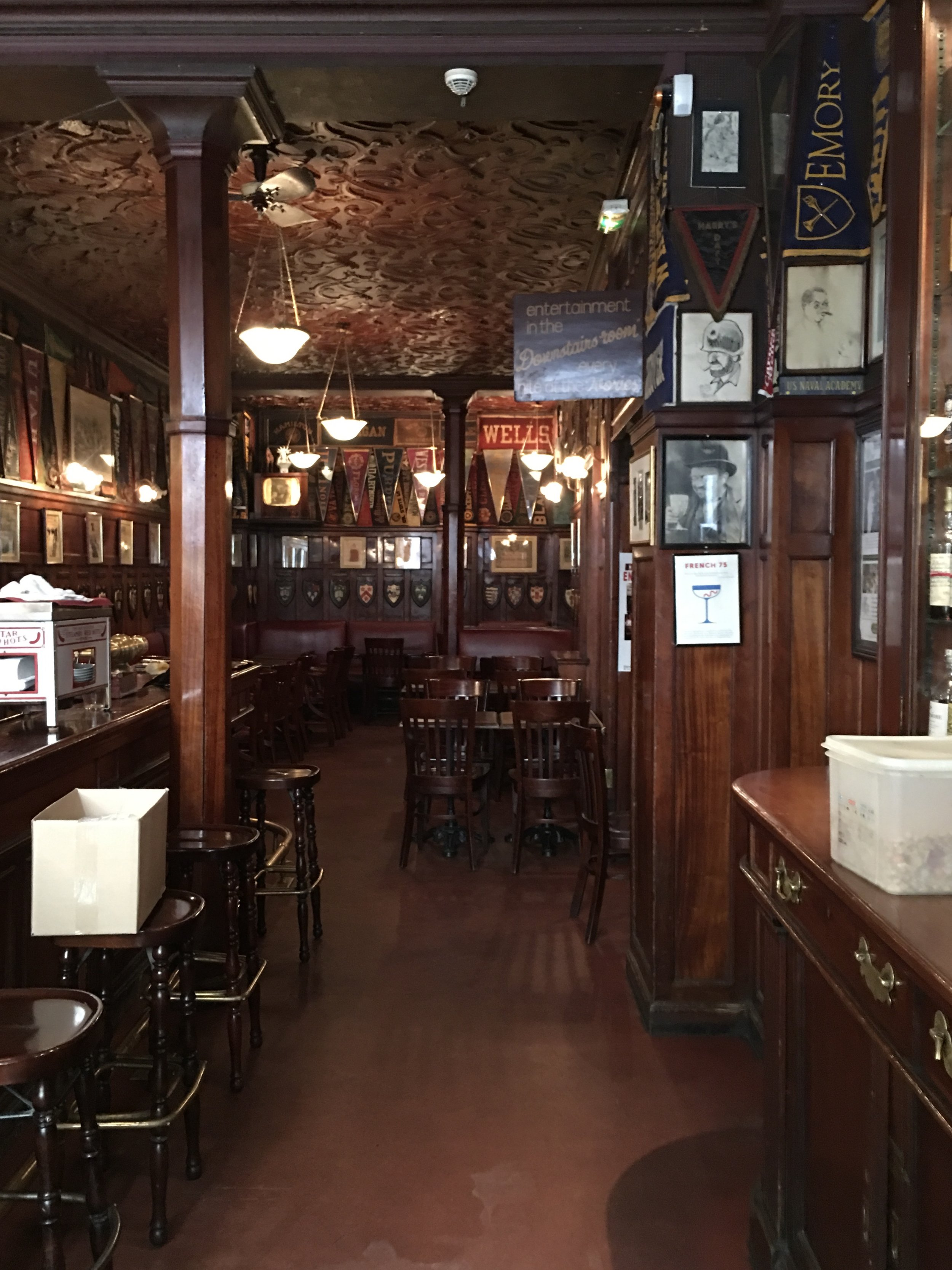 I obviously went inside Harry's New York Bar even though it was closed.