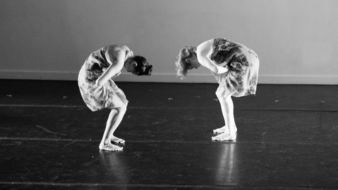 Laura Lamp and another dancer  Parallax  choreographed by Laura for NACHMO 2015