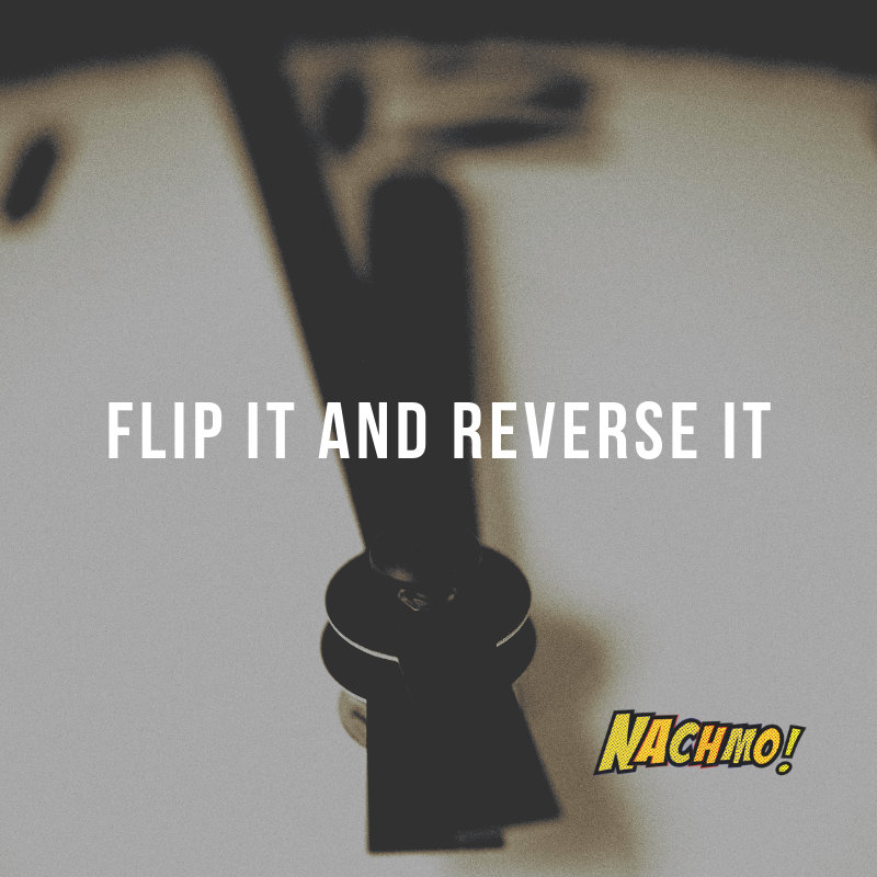Jan 17: Flip it and reverse it - Prompt: Set two timers for 30 seconds. Improvise for 30 seconds, then try to reverse the entire improv for the next 30 seconds.Plus: Take a few of your phrases and try to perform them backward. See if you like any of them completely backward, or maybe just flipping back and forth between forward and reverse for some interesting repetition.Lens: Load some of your footage into a video editor. Reverse your footage at various speeds. See how editing can make something more or less dramatic. Pay attention to how it can create surprise when entering or exiting a frame in reverse.