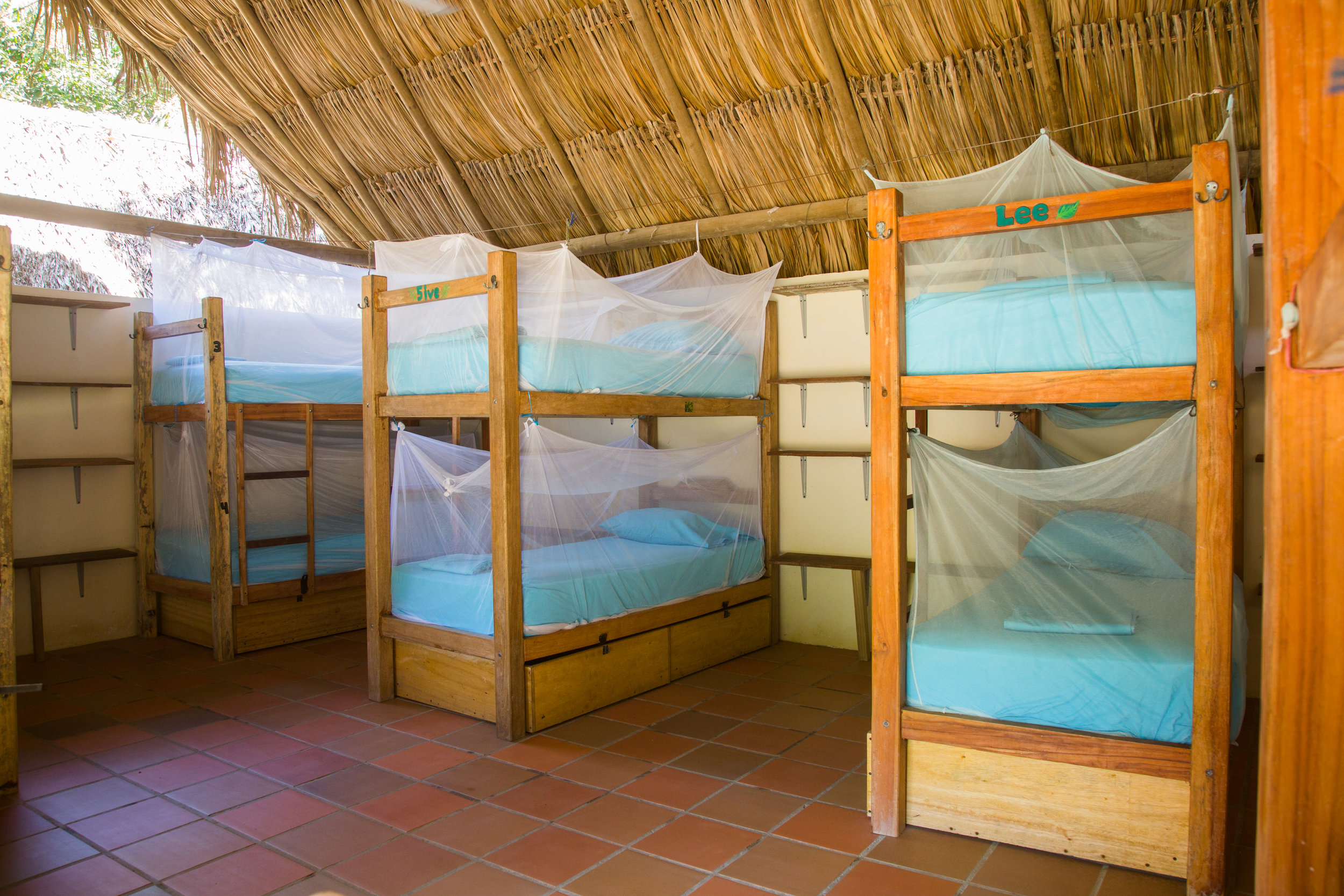Dorm accommodation at El Rio Hostel.