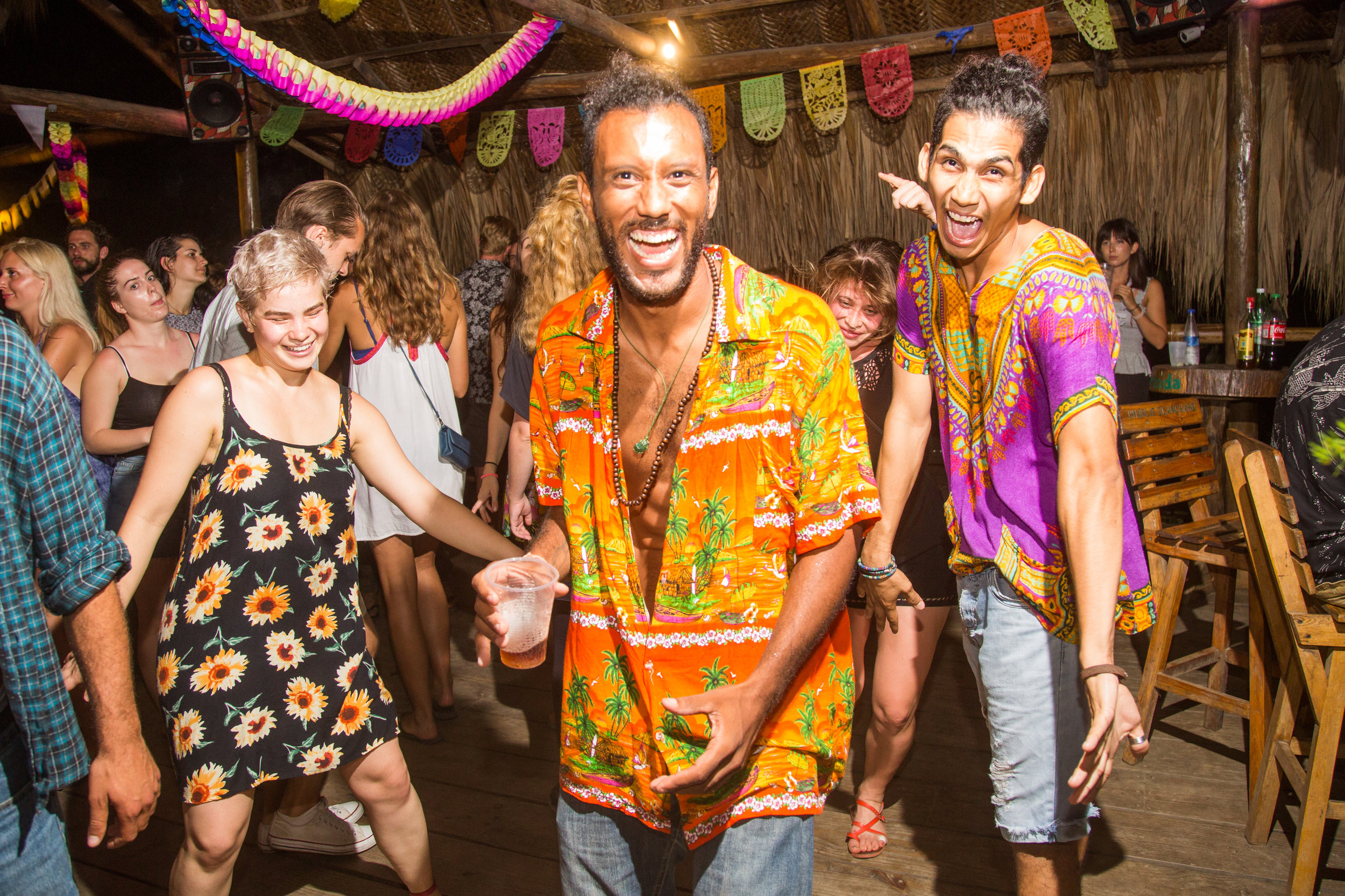 Monthly dance parties at El Rio Hostel
