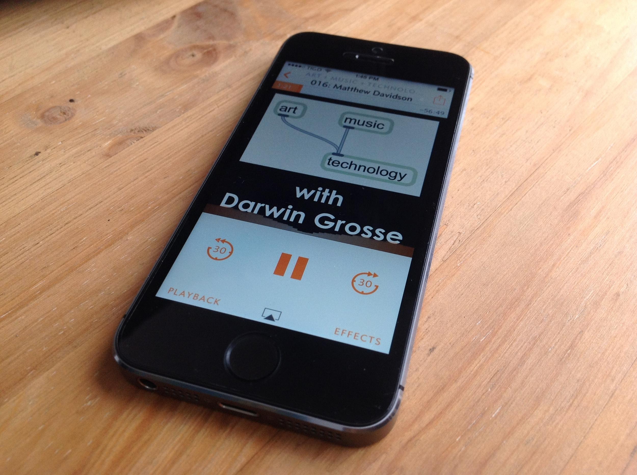 Overcast en el iPhone