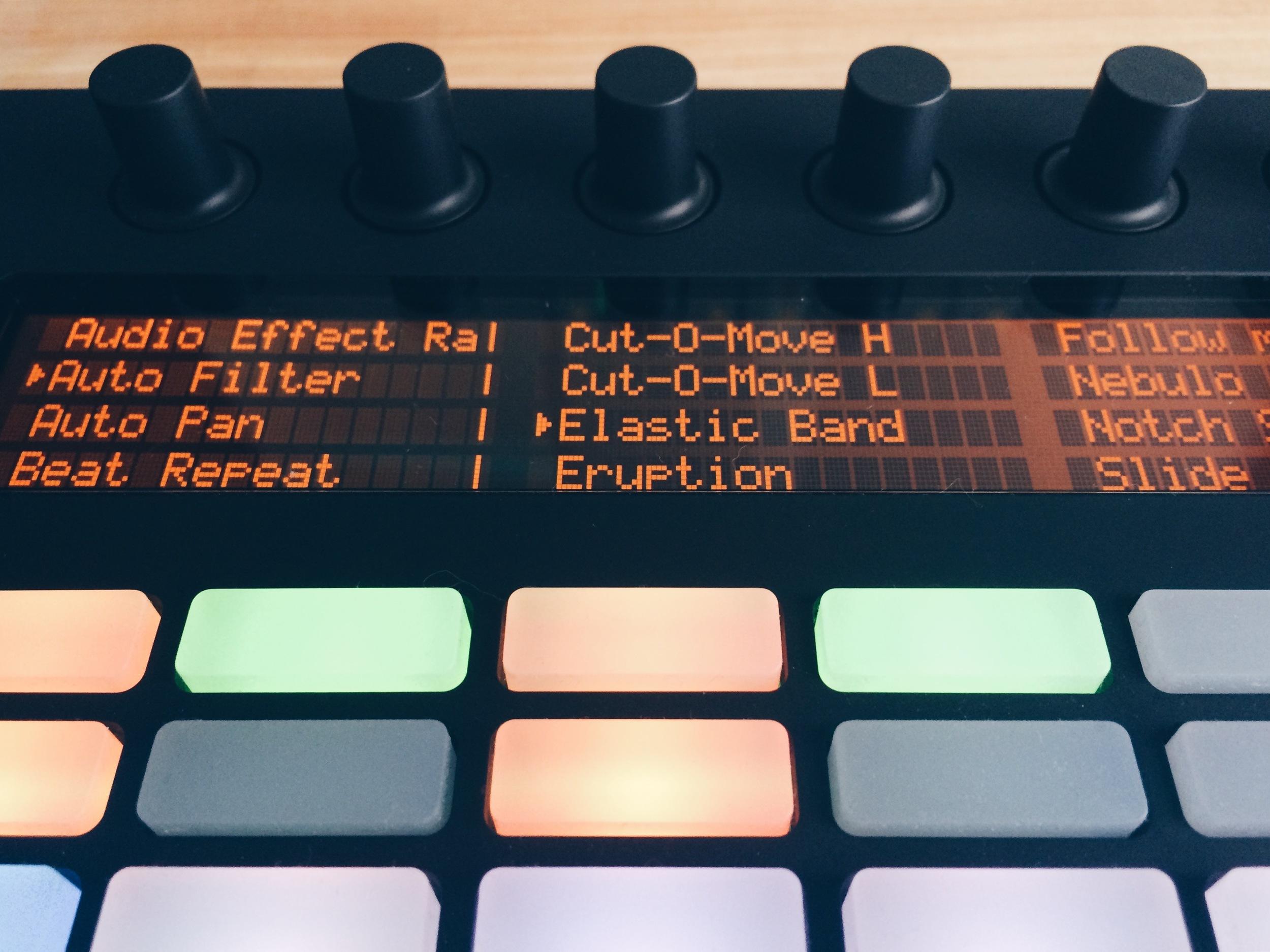 Encoders de Ableton Push