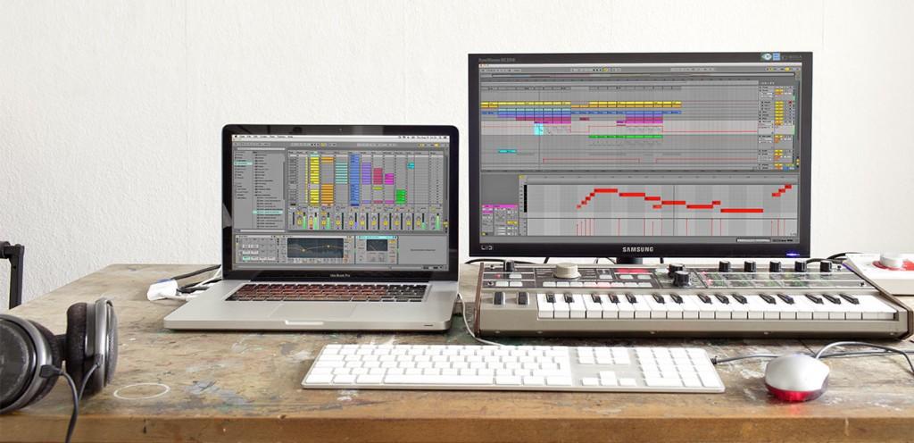 DAW (Digital Audio Workstation). Ableton Live.