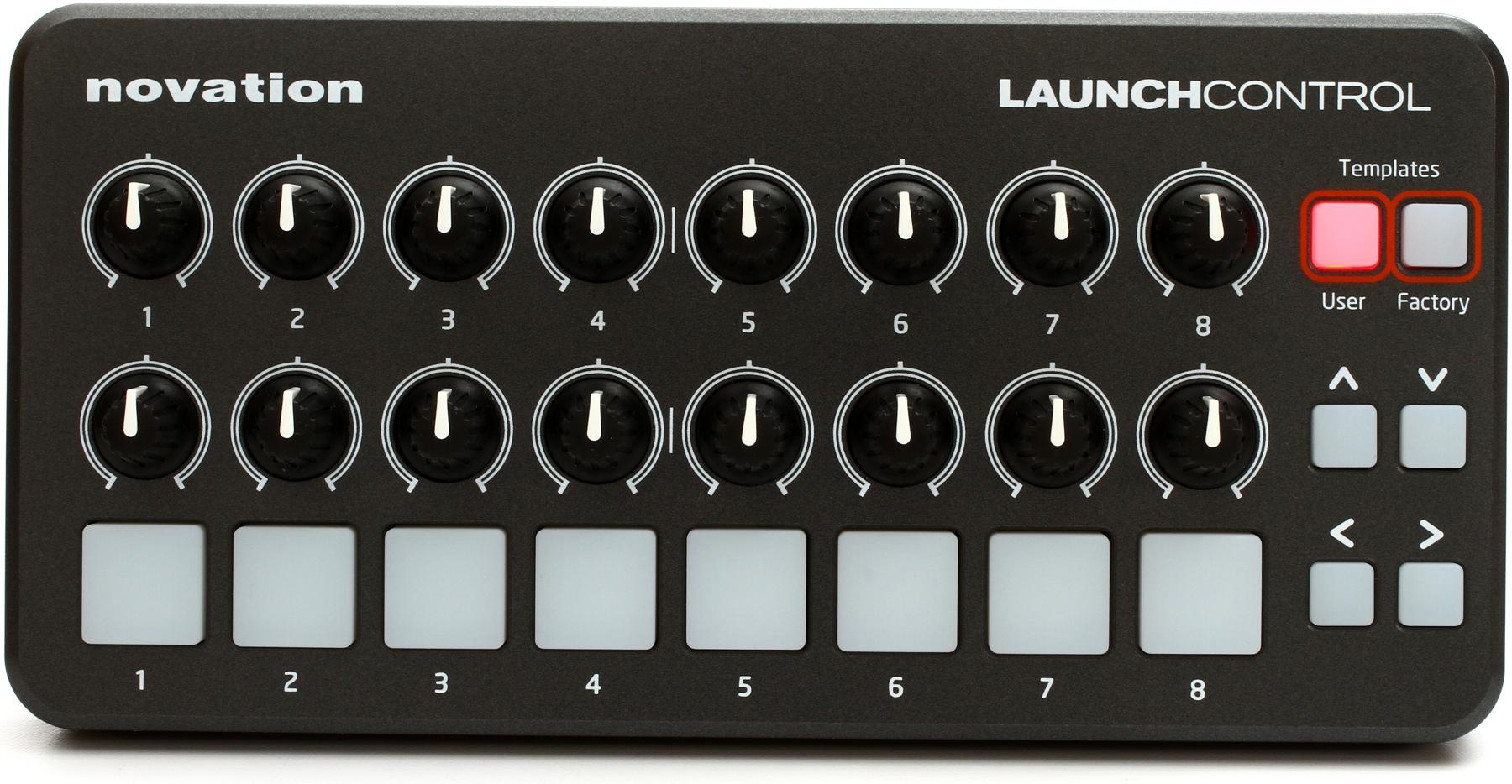 Launch Control de Novation. Compacto y flexible.