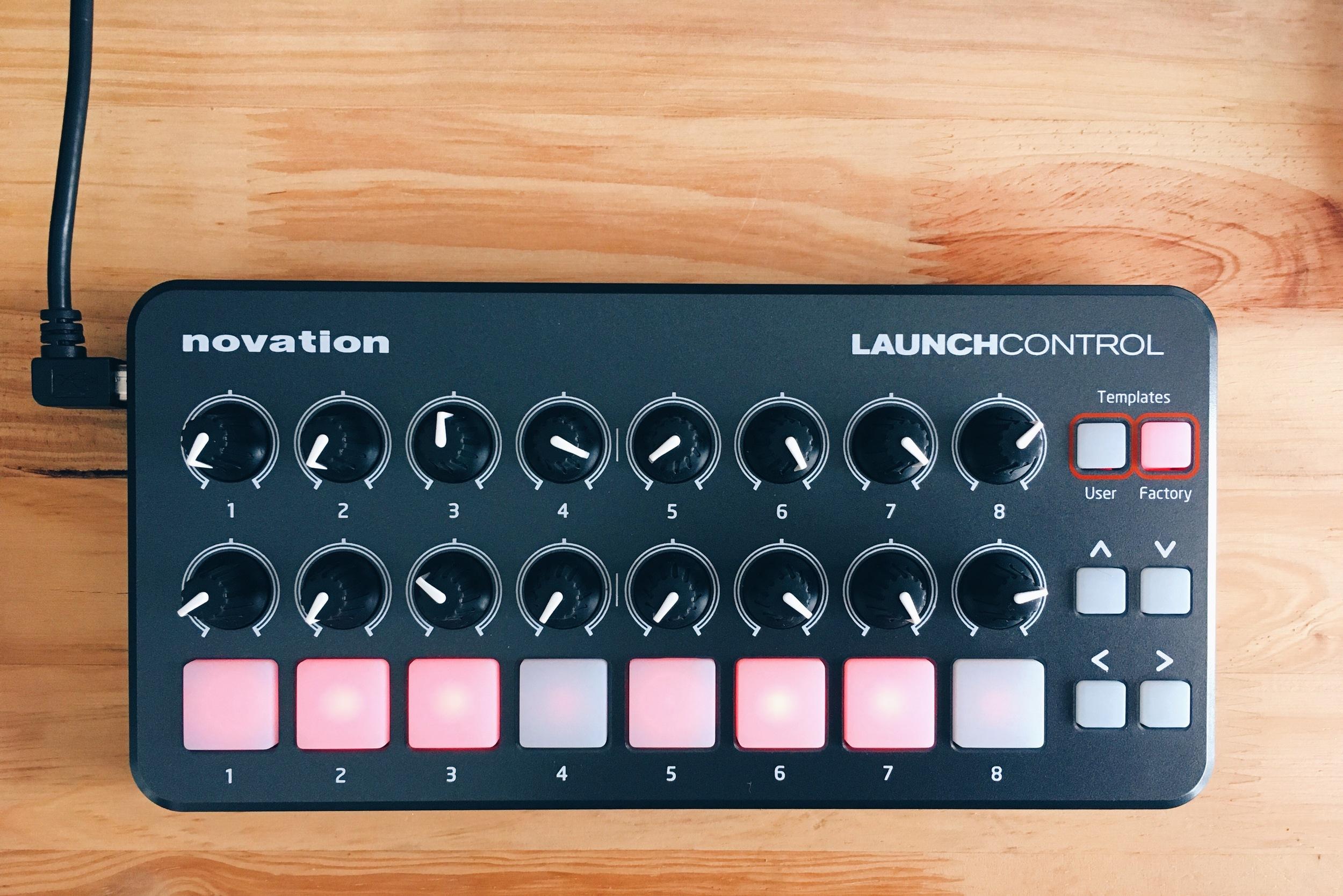 El controlador Novation Launch Control