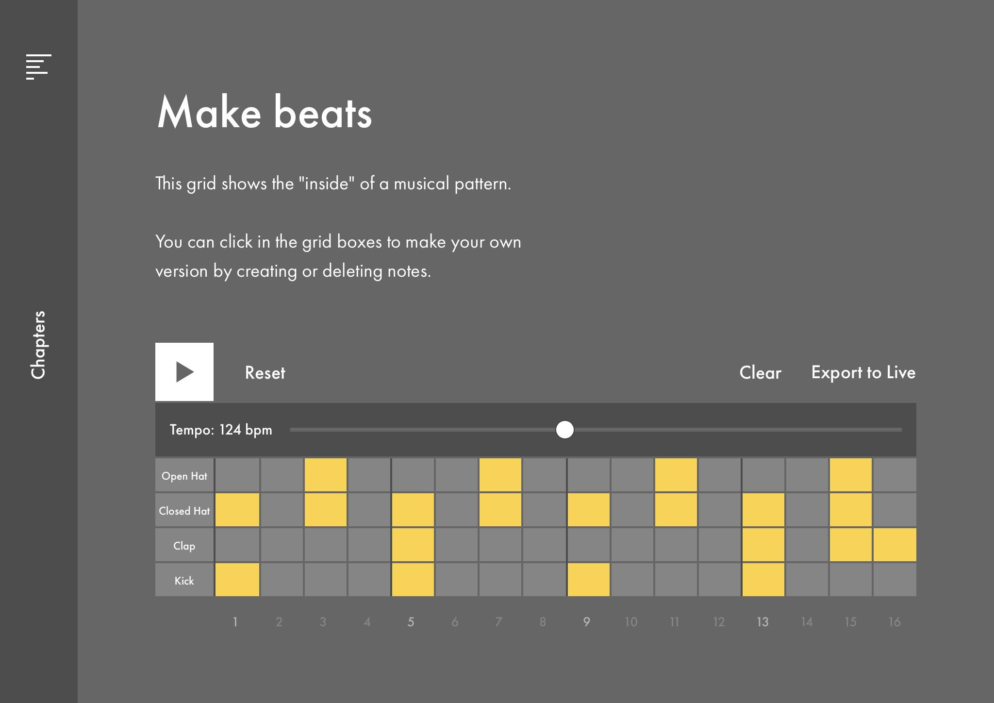 Uno de los ejercicios de Learning Music.