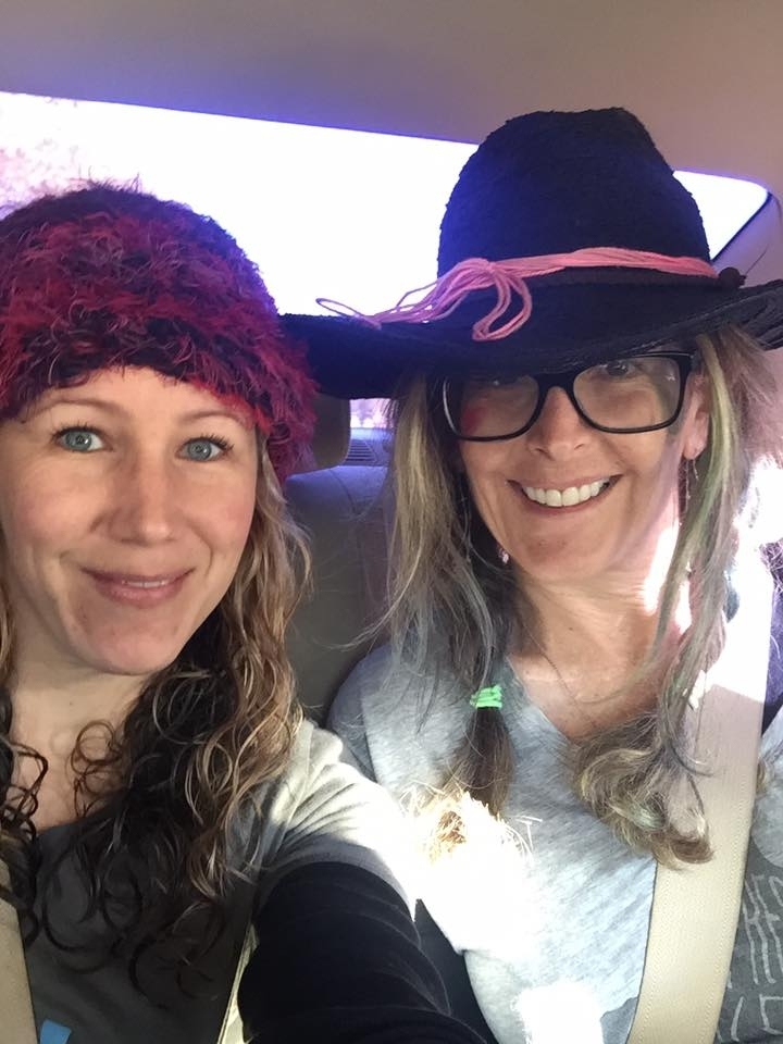Jennifer Marshall came to Los Angeles to attend the This is My Brave Show produced by TLC BFRB. We decided to put on hats and head downtown for the women's march. Hers was pink I only had some pink ribbon