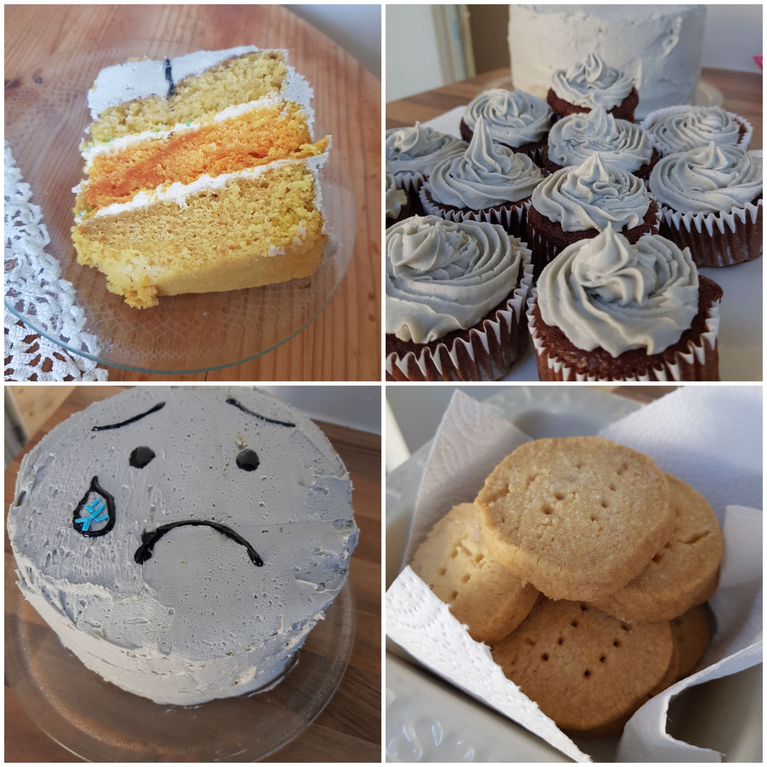 Some baked goods that were sold to raise funds for HEADS TOGETHER
