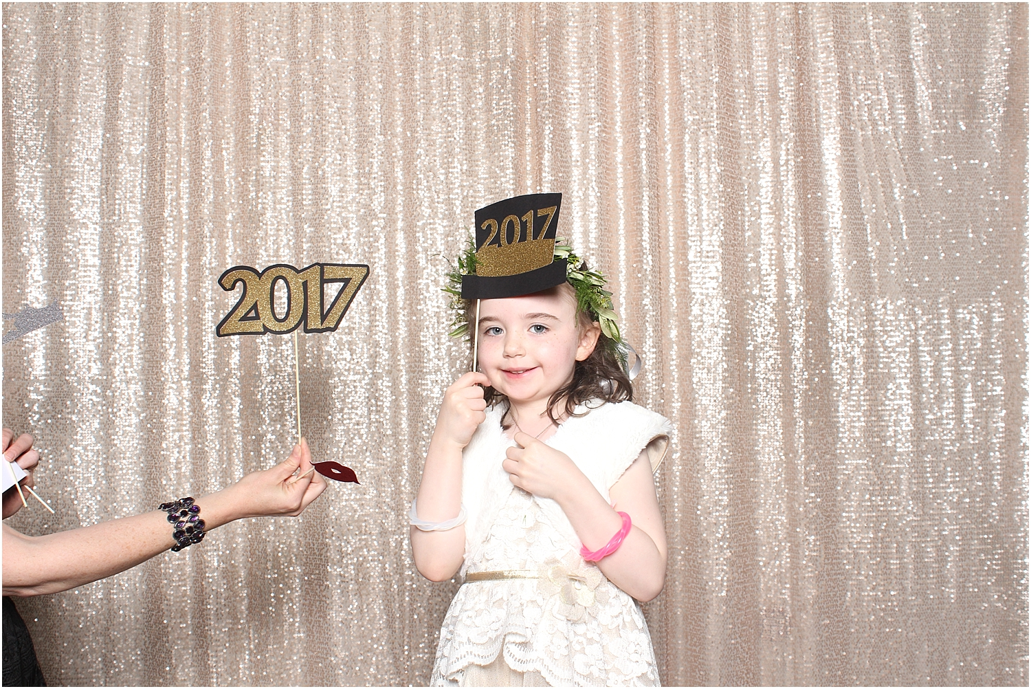 new years eve wedding photo booth