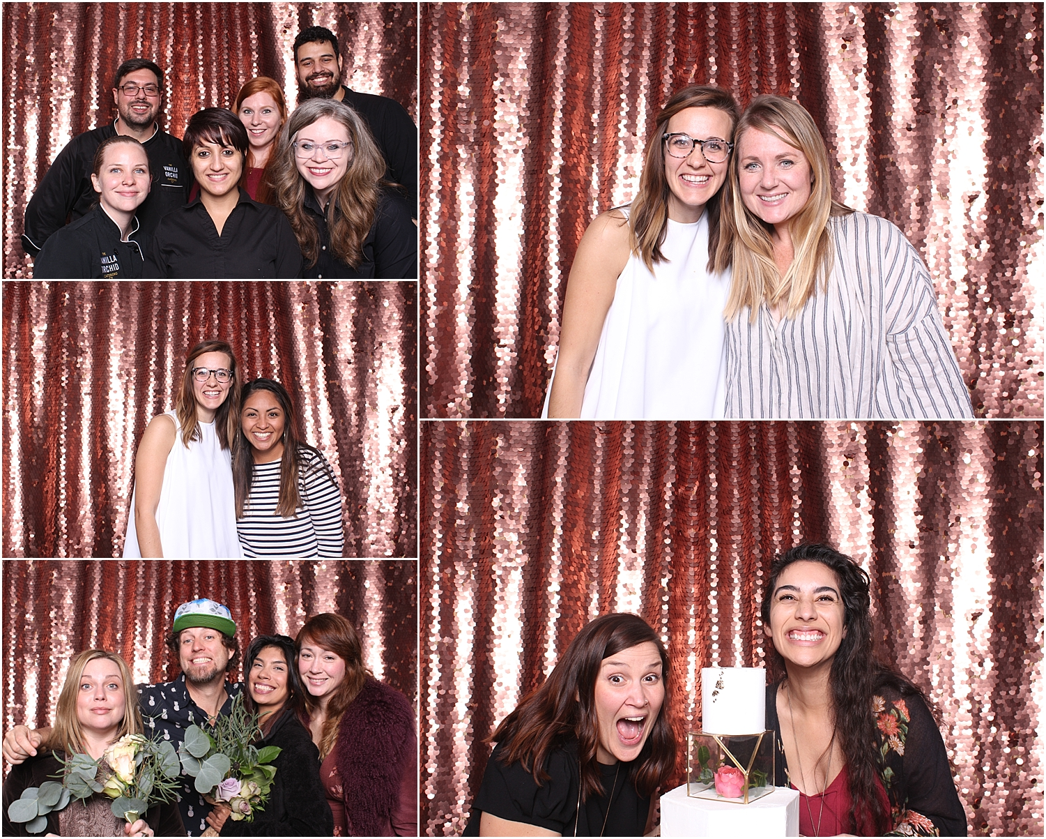 Best Austin photo booth corporate party wedding social media sparkly sequin backdrops step and repeat backdrop red carpet sxsw event social media integration luxury photo booth