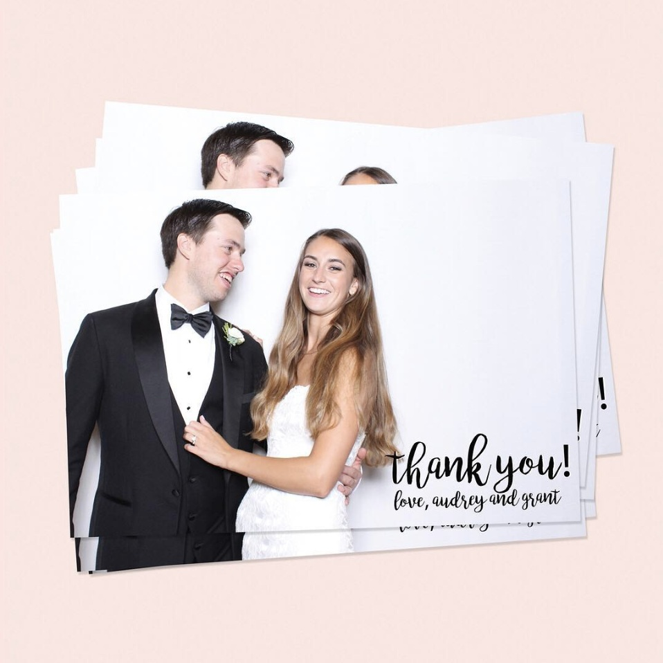 austin photo booth thank you cards