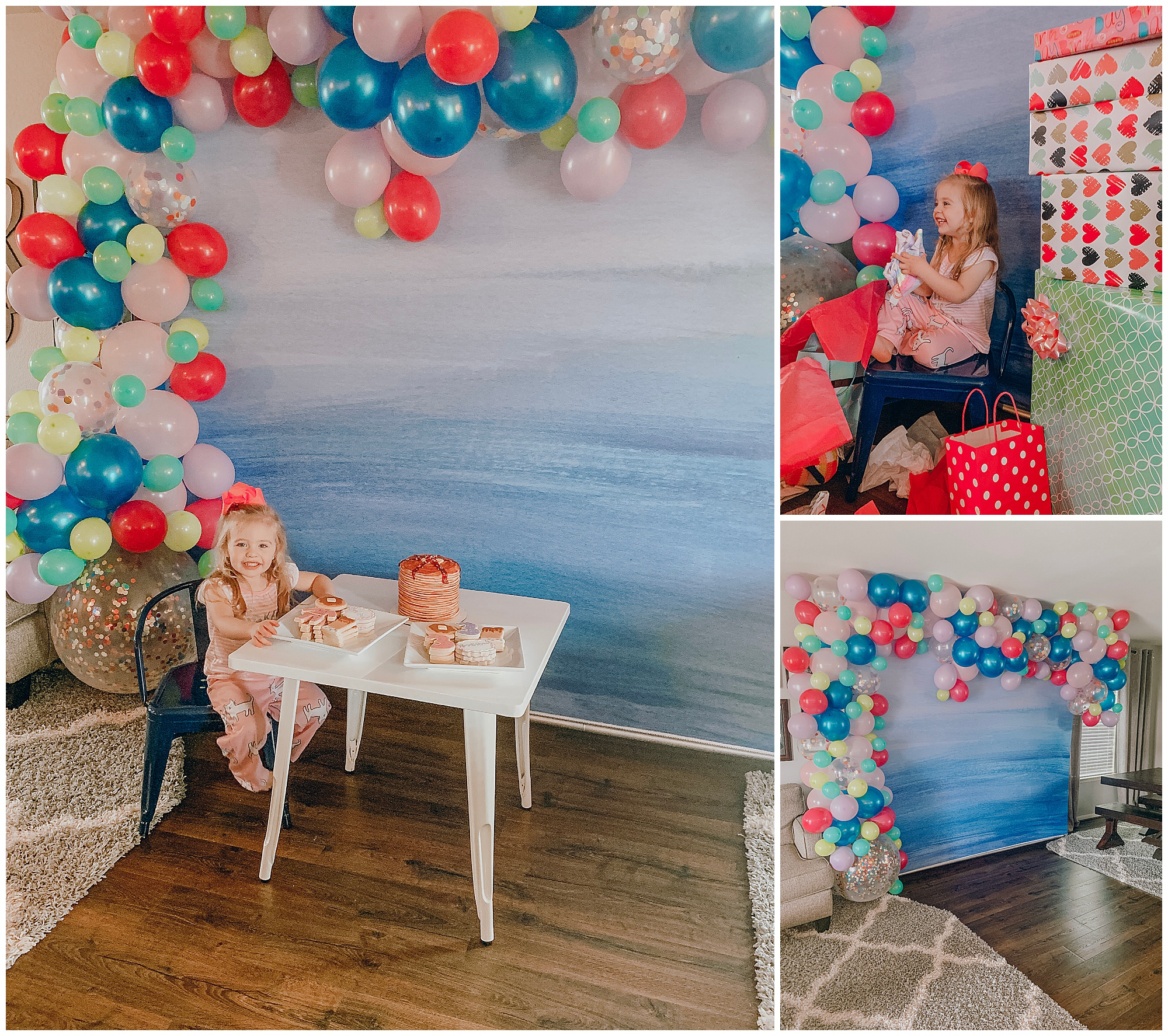 We created an installation for a birthday party!