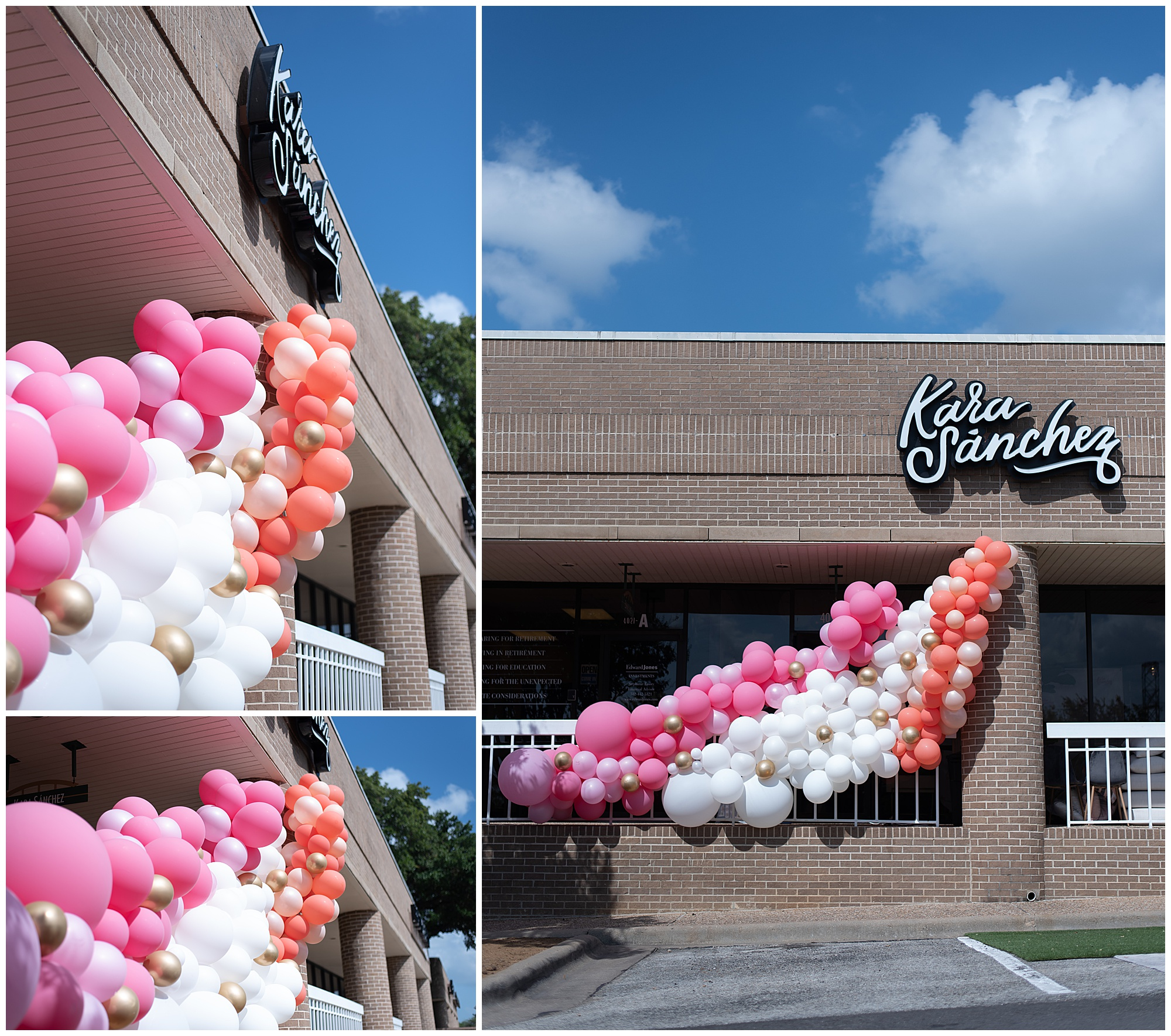 We created a balloon installation inside and outside the boutique for Kara Sanchez's grand opening.