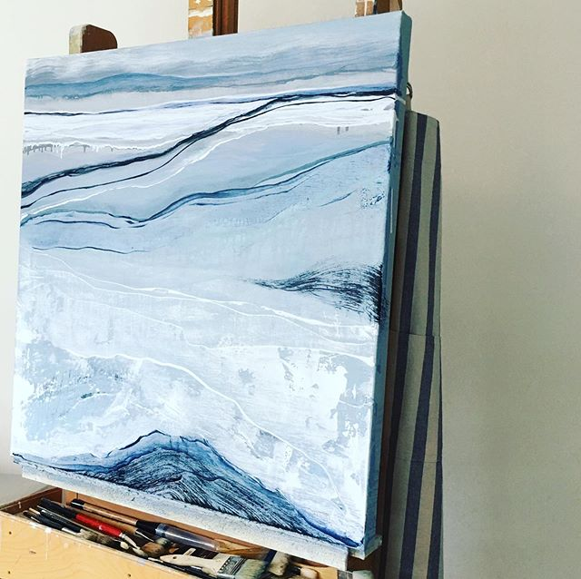 // DEVELOPING // Another painting inspired by the ocean.  #workinprogress #layeronlayer #pnwinspired #pnwart #layersofgrey #oilpainting #oiloncanvas #landscapepainting #abstractart #abstractpainting #abstractartist #fineart #artforthesoul #meditationart #coastalart #oceancolors #natureinspired #acreativelife #artistsoninstagram #visualart #visualartist #artistworld #artforinteriors #resortart #process #art #seattleartist #workingartist