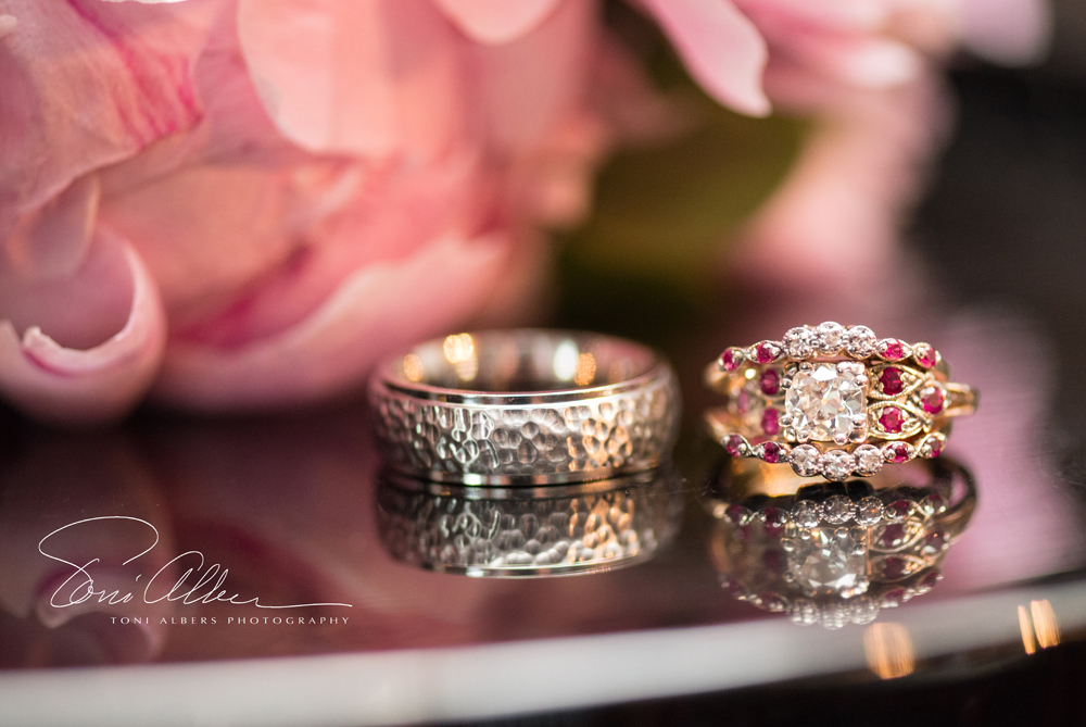Wedding Rings, reflection photograph