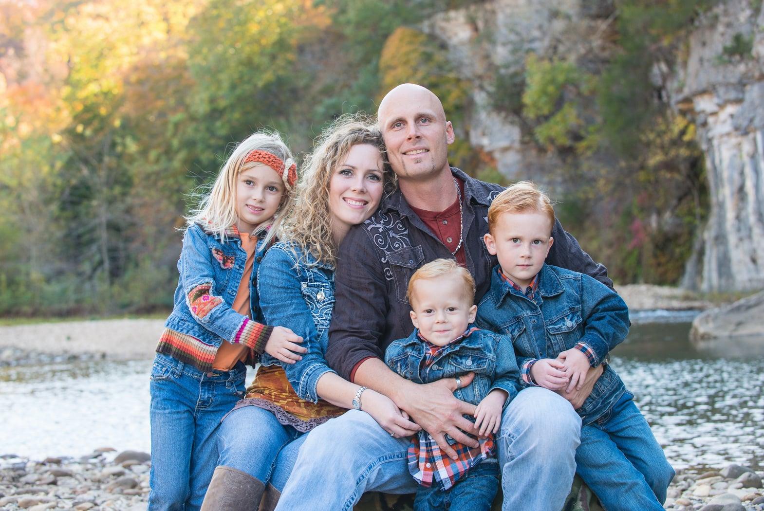 family of 5 near Buffalo River