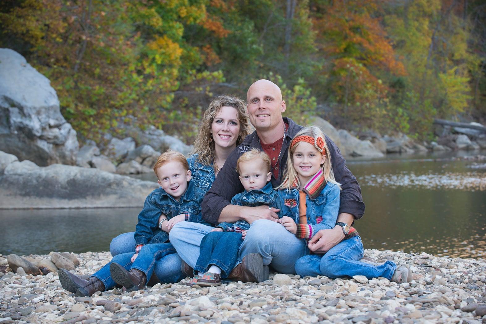 family of 5 near the Buffalo River