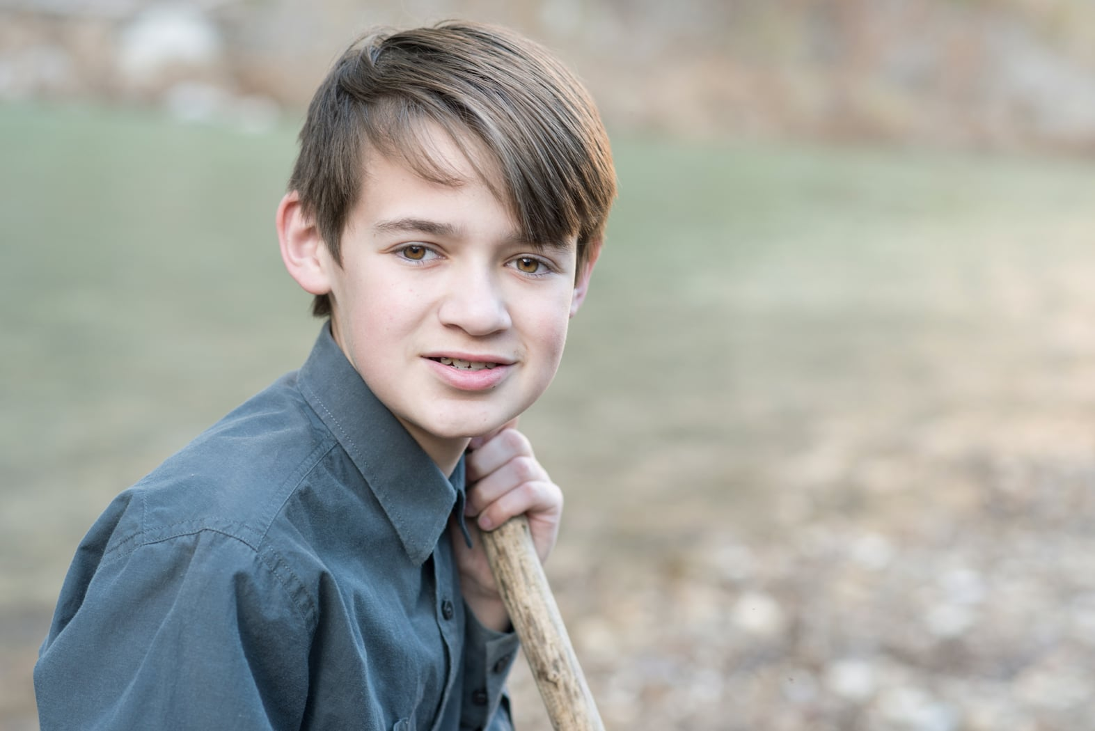 Boy beside Buffalo River
