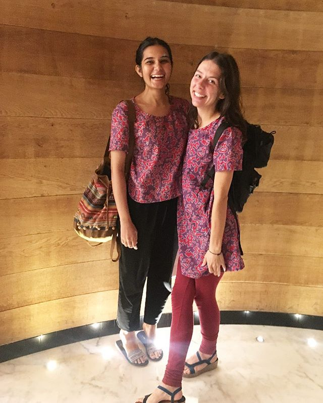 Oh ya know, the ladies of @workshelter casually wearing the toggle print as they bounce around New Delhi 😍 Lookin' good ladies!