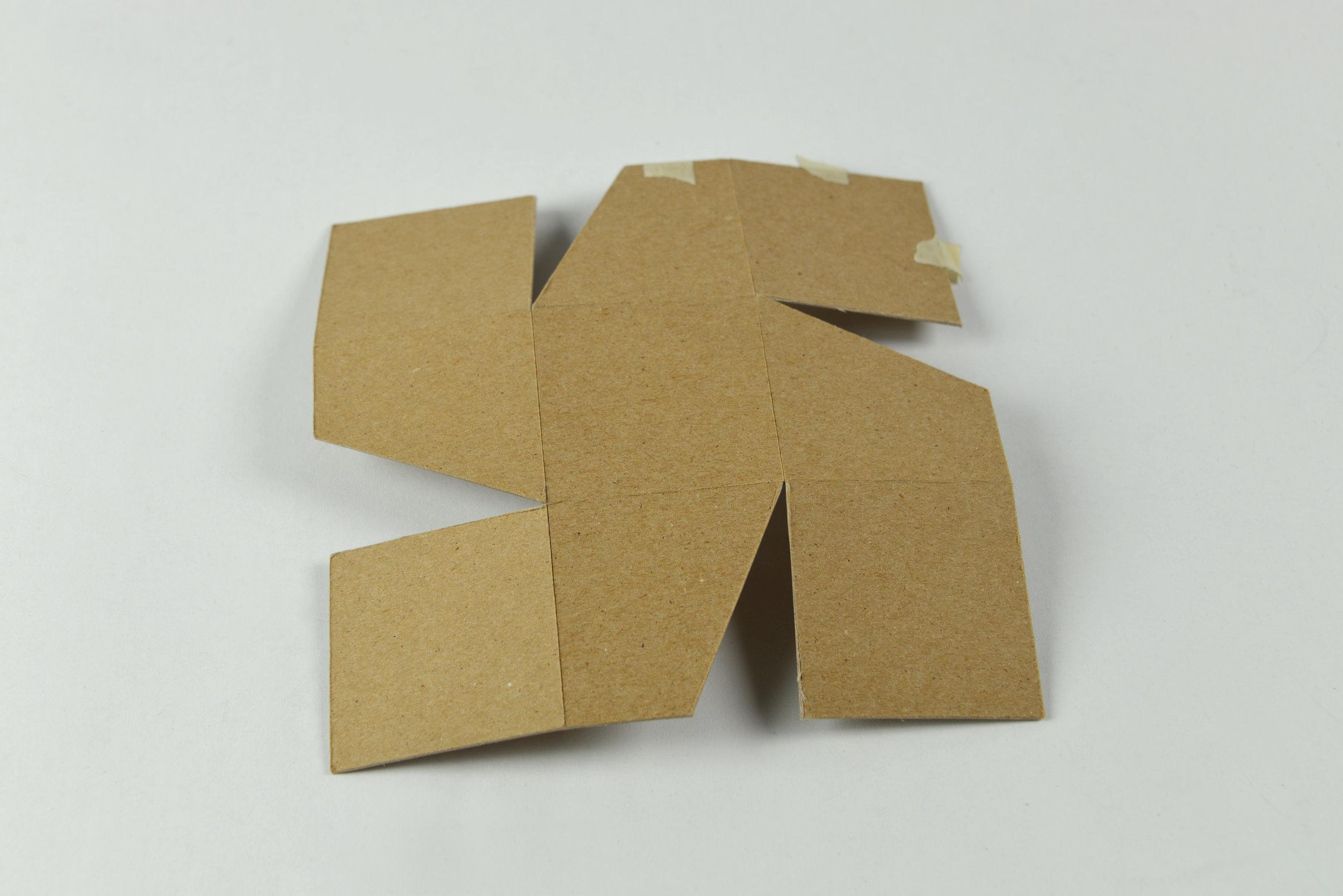 Cardboard Stool Small-Scale Prototype (2016)