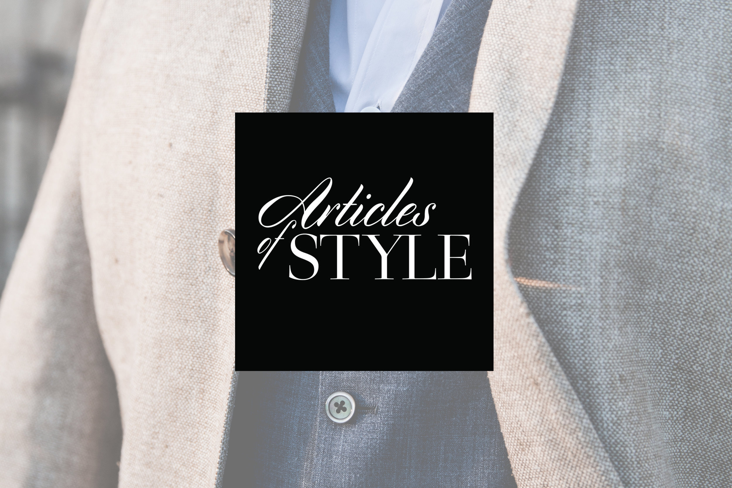 Articles of Style - Model/product content for company's website