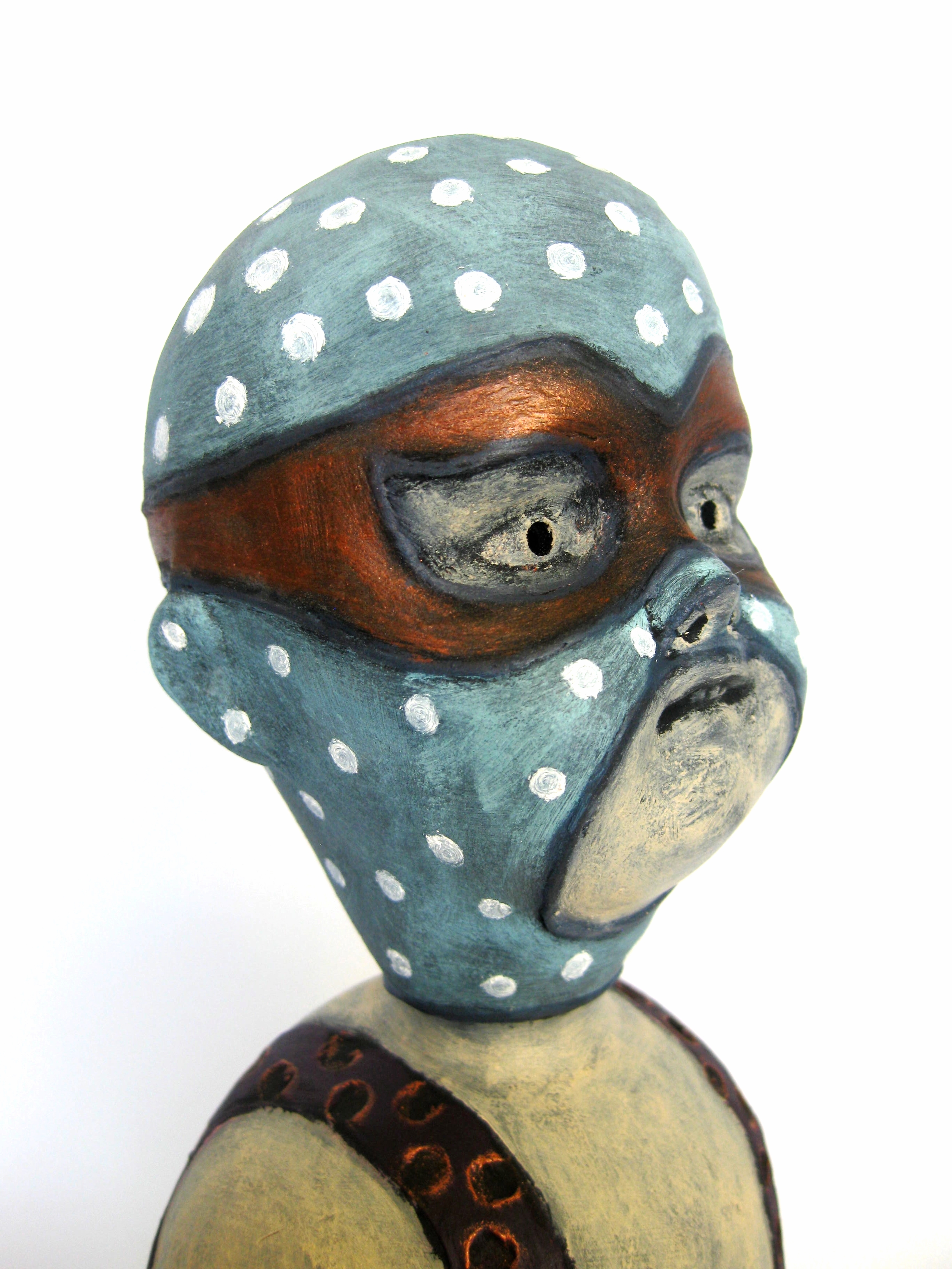 El Doble Enmascarado (The Dual Masked One) Head Detail