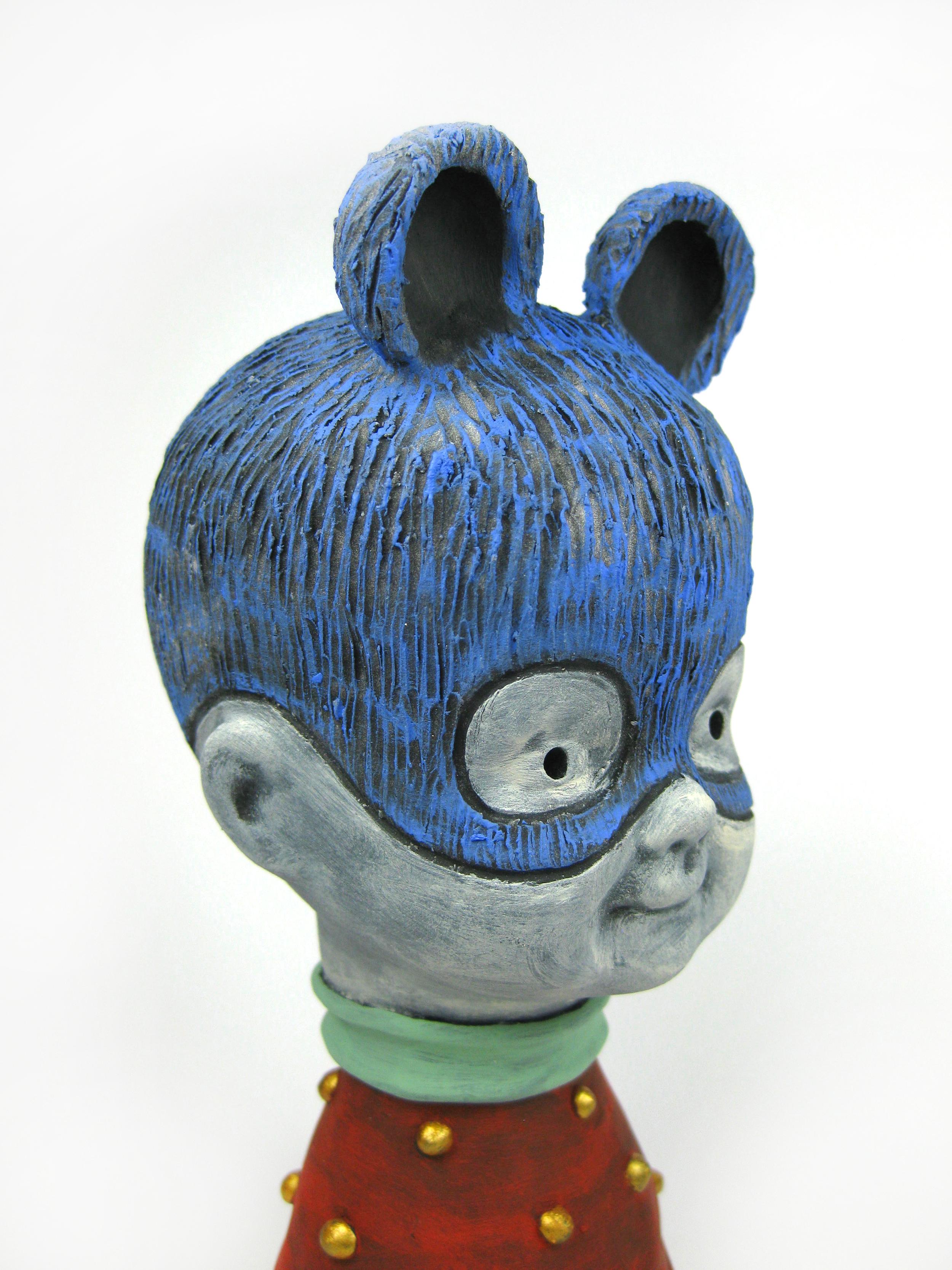 Blue Bear (Head Detail)