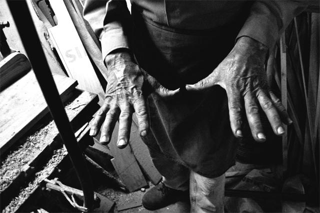 Foto tomada en el taller del Carpintero Steckl, en Paysandú Uruguay