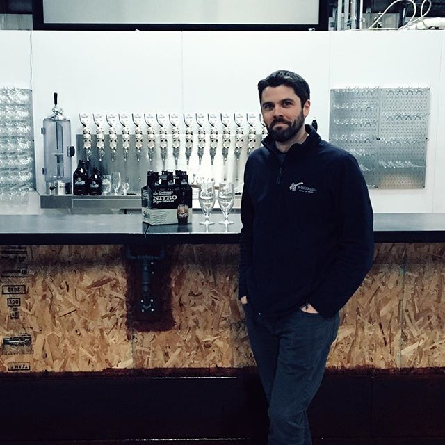 A man and his (not quite finished) taproom. @3sheepsbrewing #cashmerehammernitro