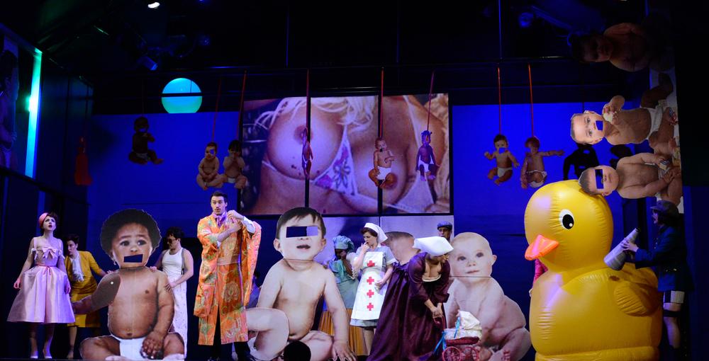 Matthew Ozawa's 2014 production of  Les Mamelles de Tiresias  at the Wolftrap Opera.  (photo courtesy of Matthew Ozawa)