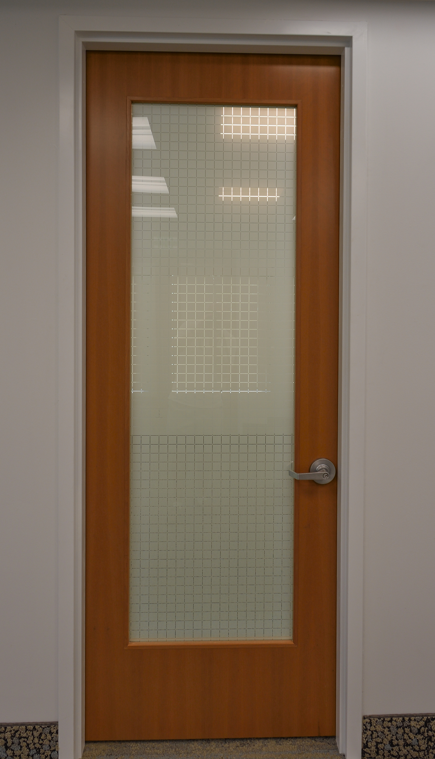 Full Height Solid Doors with Glass Inserts