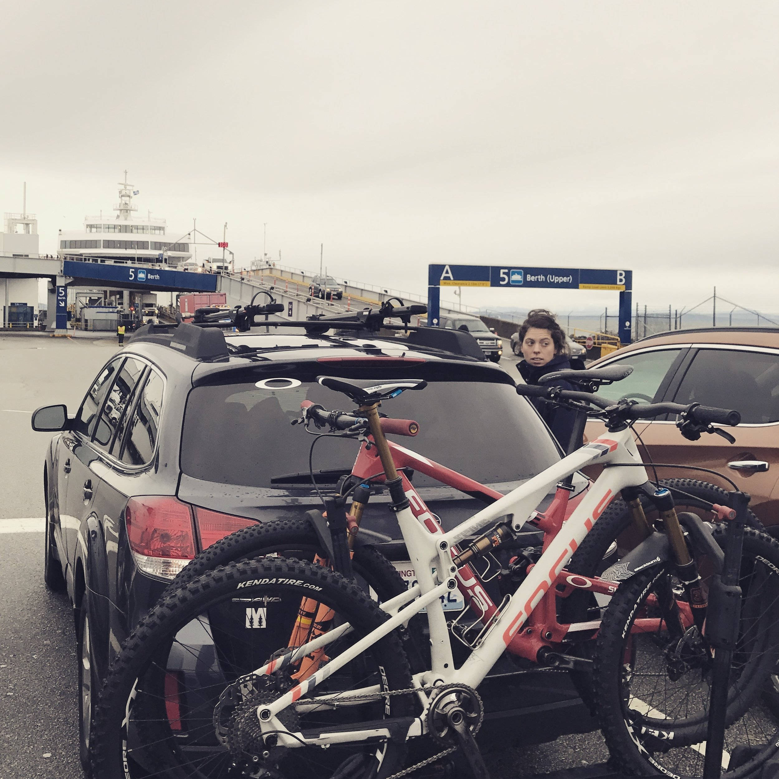 Two Bikes, because well, two races! Love the BC Ferry system too.