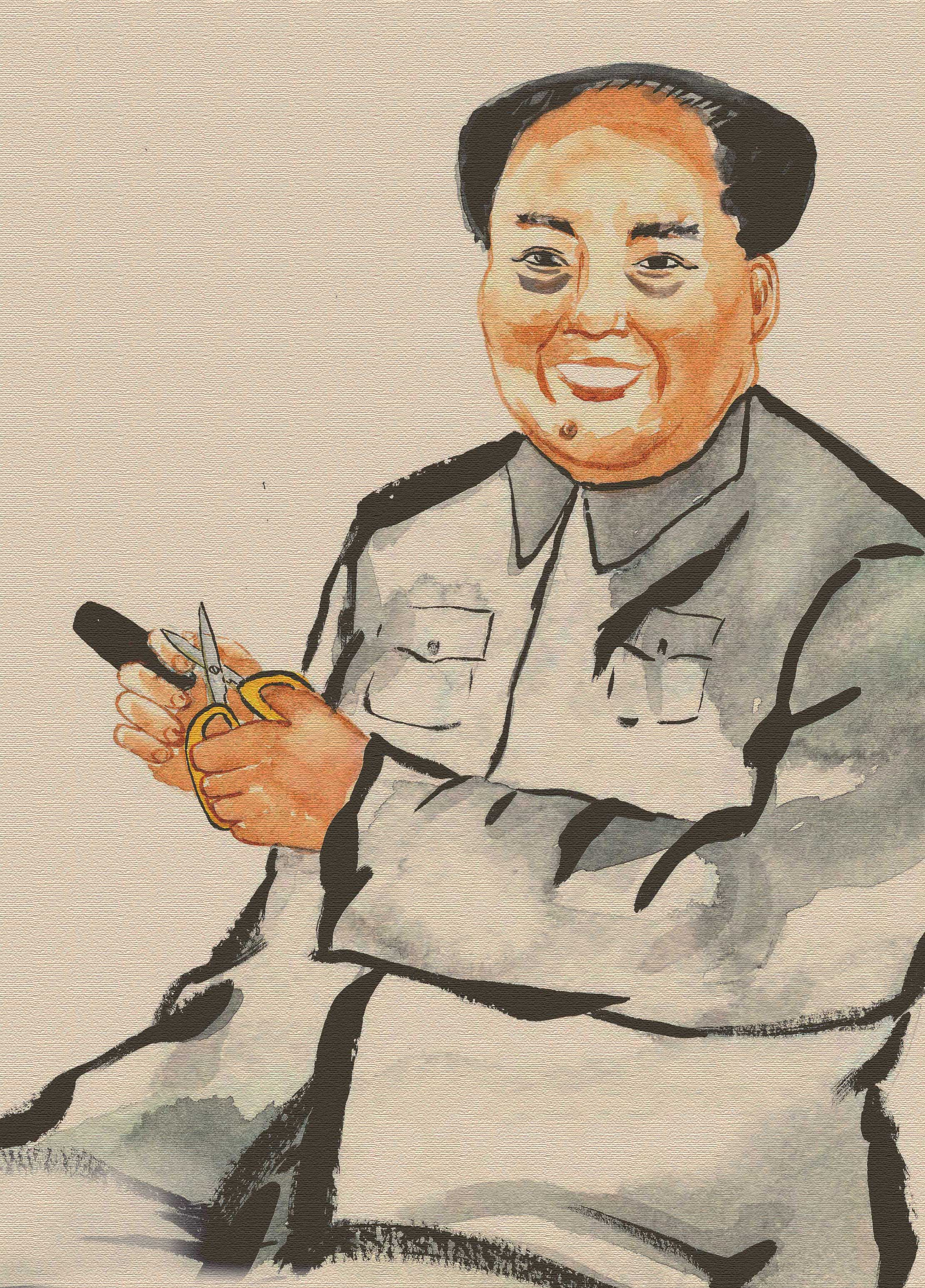 A Happy Mao with his cigar