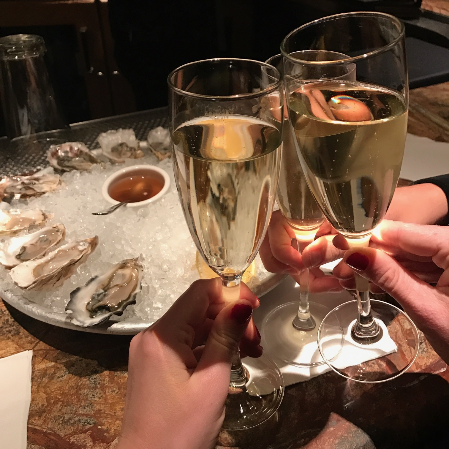 Happy Hour at Farallon...cheers!