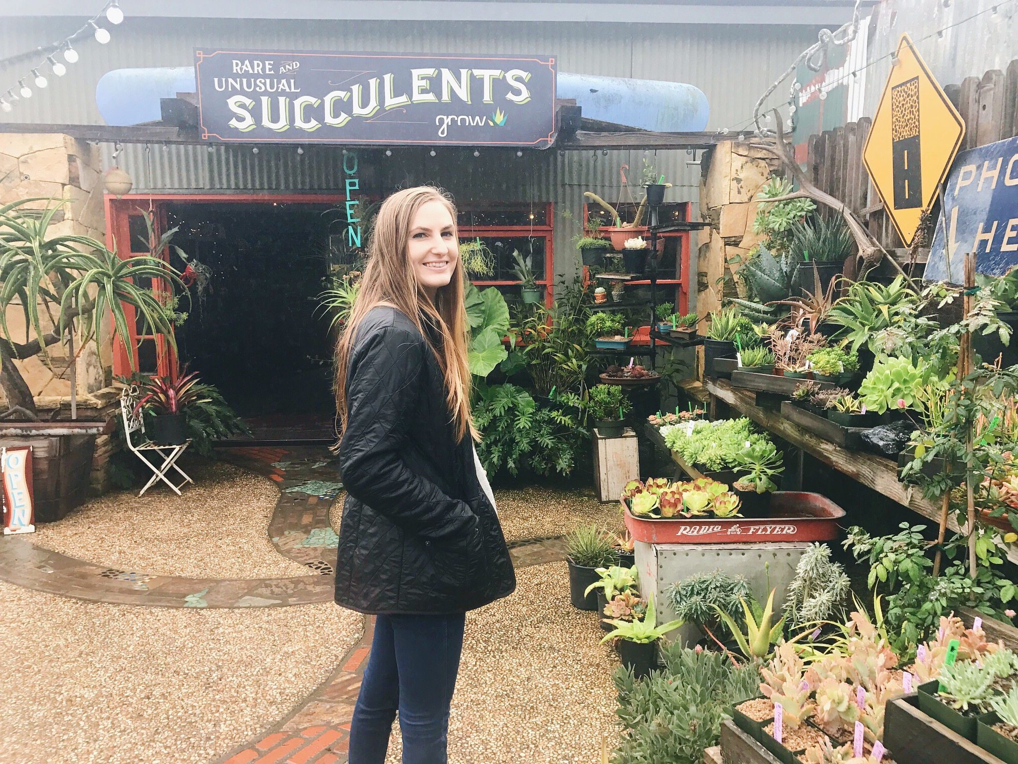 Ivy's favorite...succulent shopping at GROW!