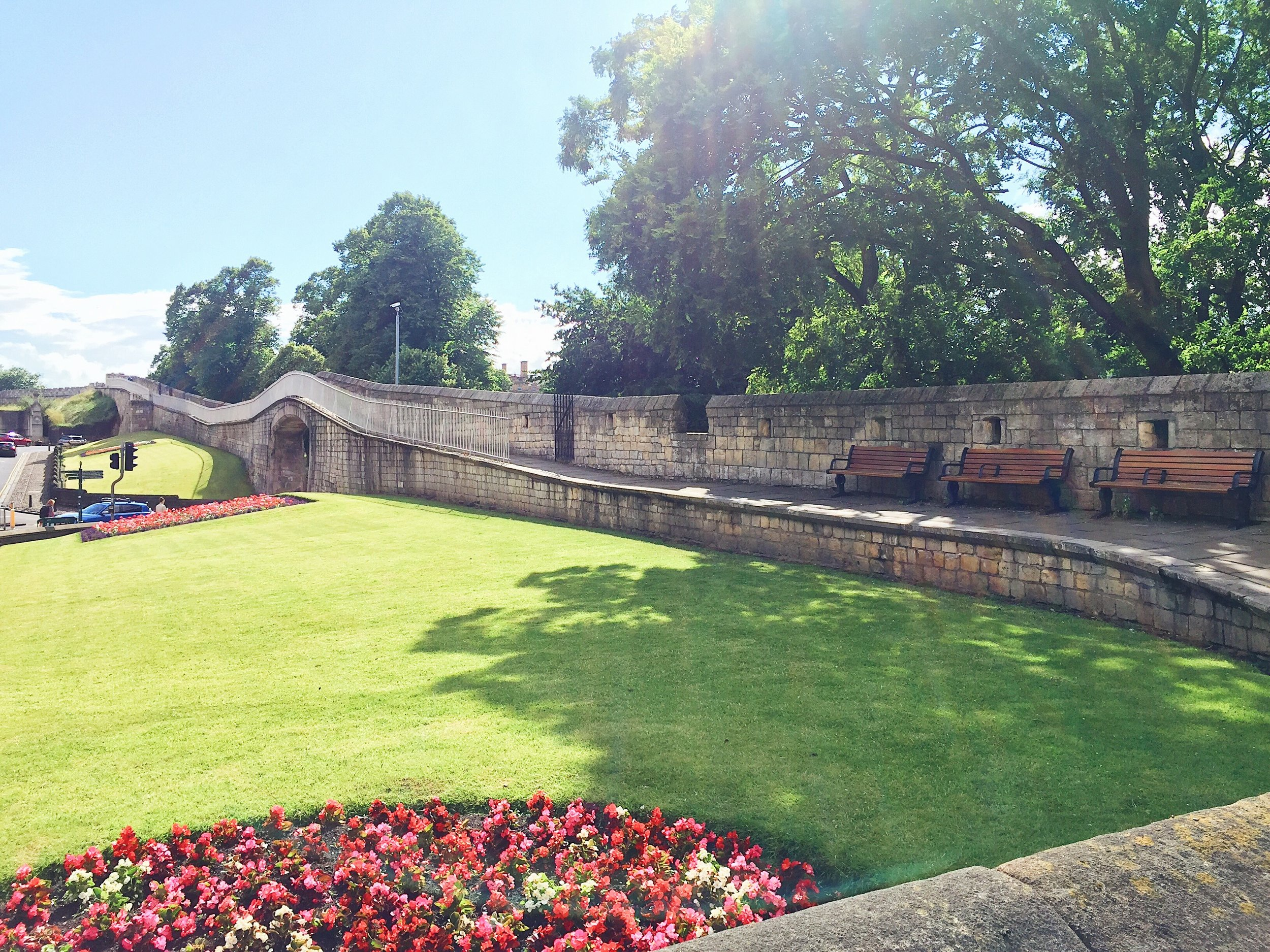Part of the Roman Wall surrounding York City