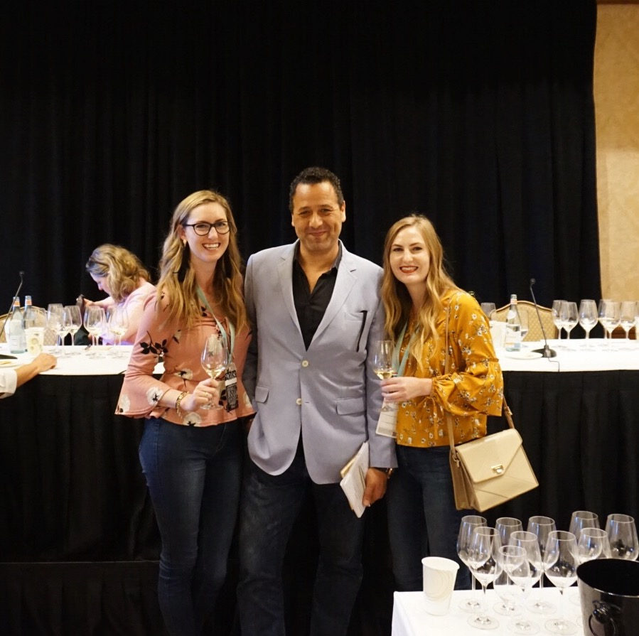 "Us with ""spirit sommelier"" Kim Beto at Sunday Bubbles"