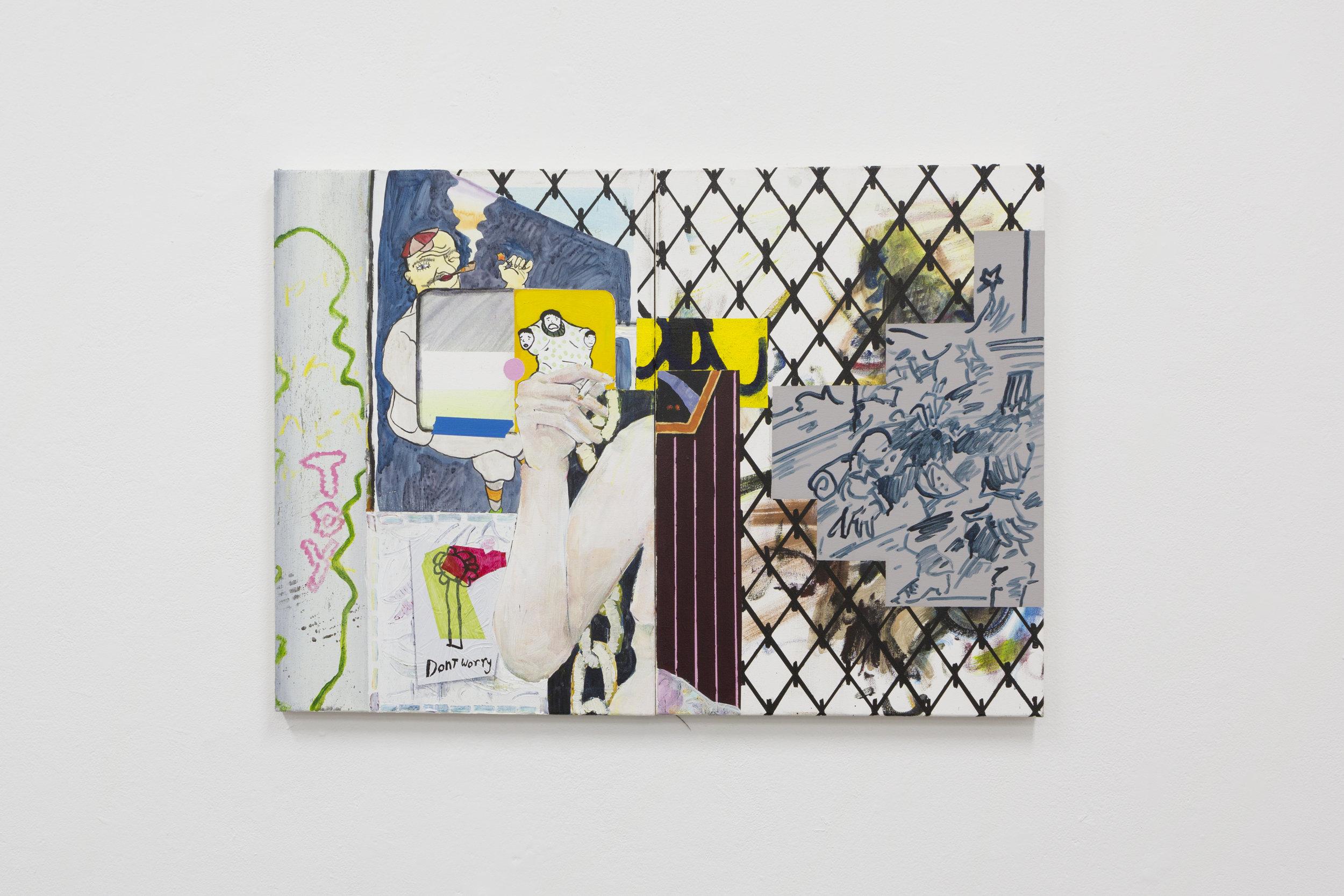 Chain-Link Sense  Acrylic on Canvas  2016