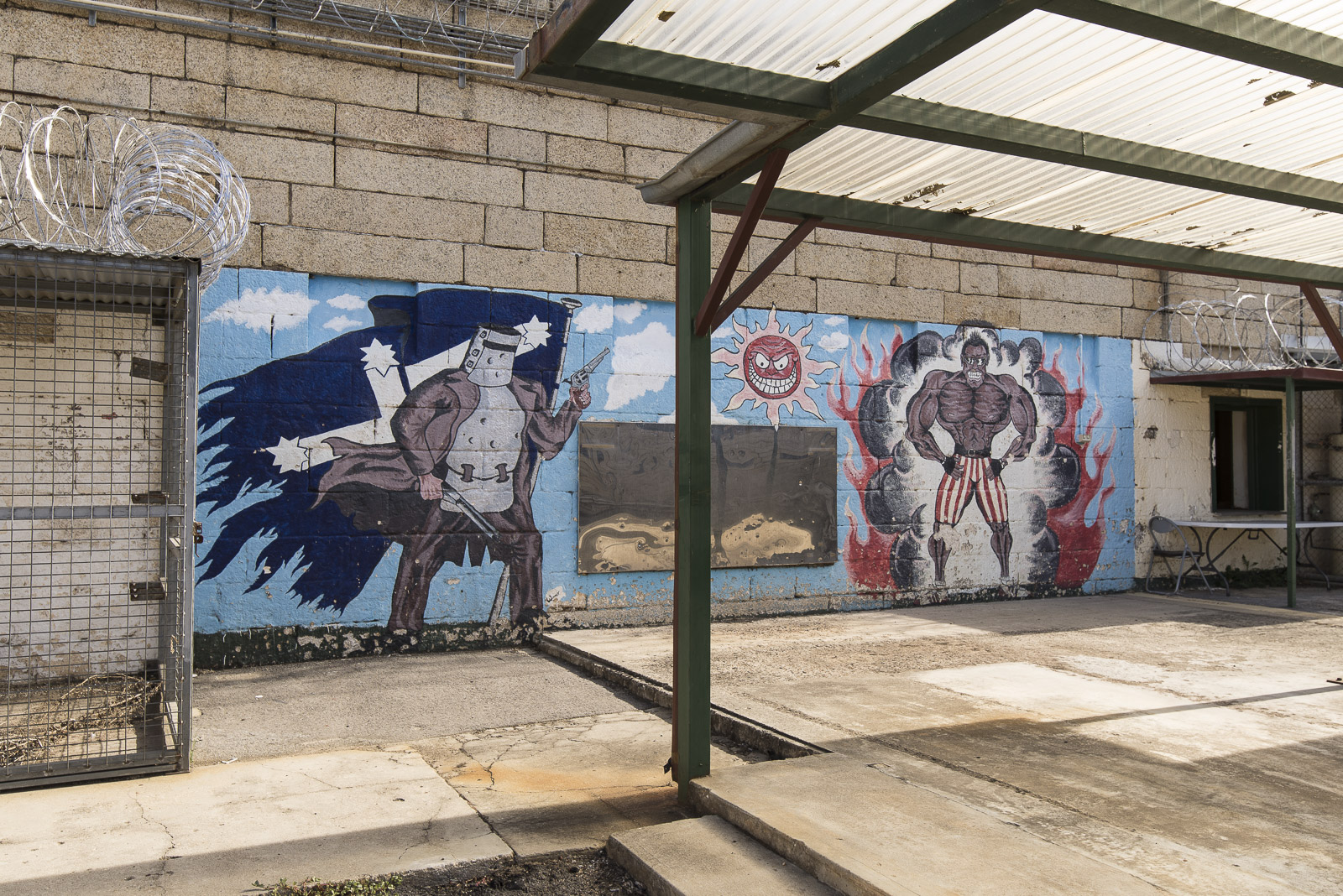 Mural by previous inmate Beechworth H.M Prison 2018