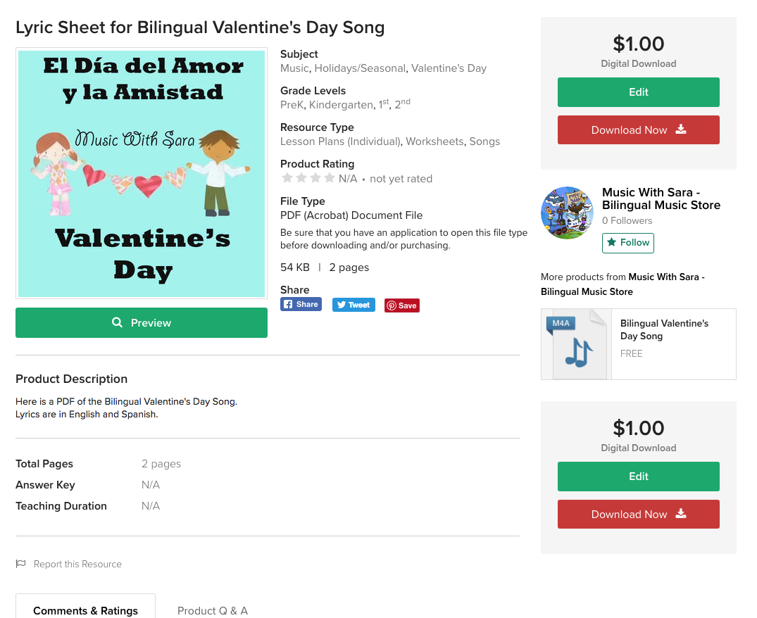 New TPT Store! - New music, lyrics sheets, sheet music, visual cards and more coming soon!